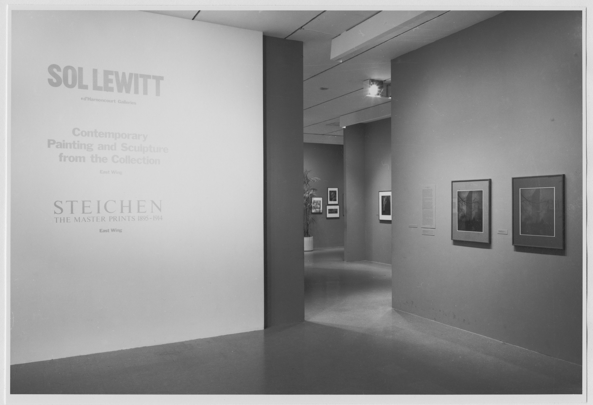 "Installation view of the exhibition, ""Steichen: The Master Prints 1895-1914"" February 14, 1978–March 28, 1978. Photographic Archive. The Museum of Modern Art Archives, New York. IN1200.1. Photograph by Mali Olatunji."