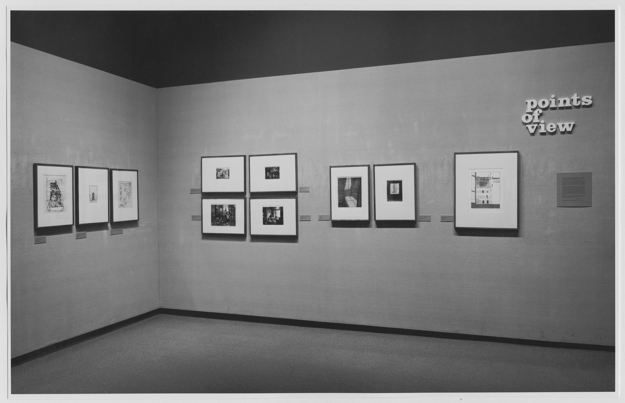 "Installation view of the exhibition, ""Points of View."" March 7, 1975–June 8, 1975. Photographic Archive. The Museum of Modern Art Archives, New York. IN1091a.1. Photograph by Katherine Keller."