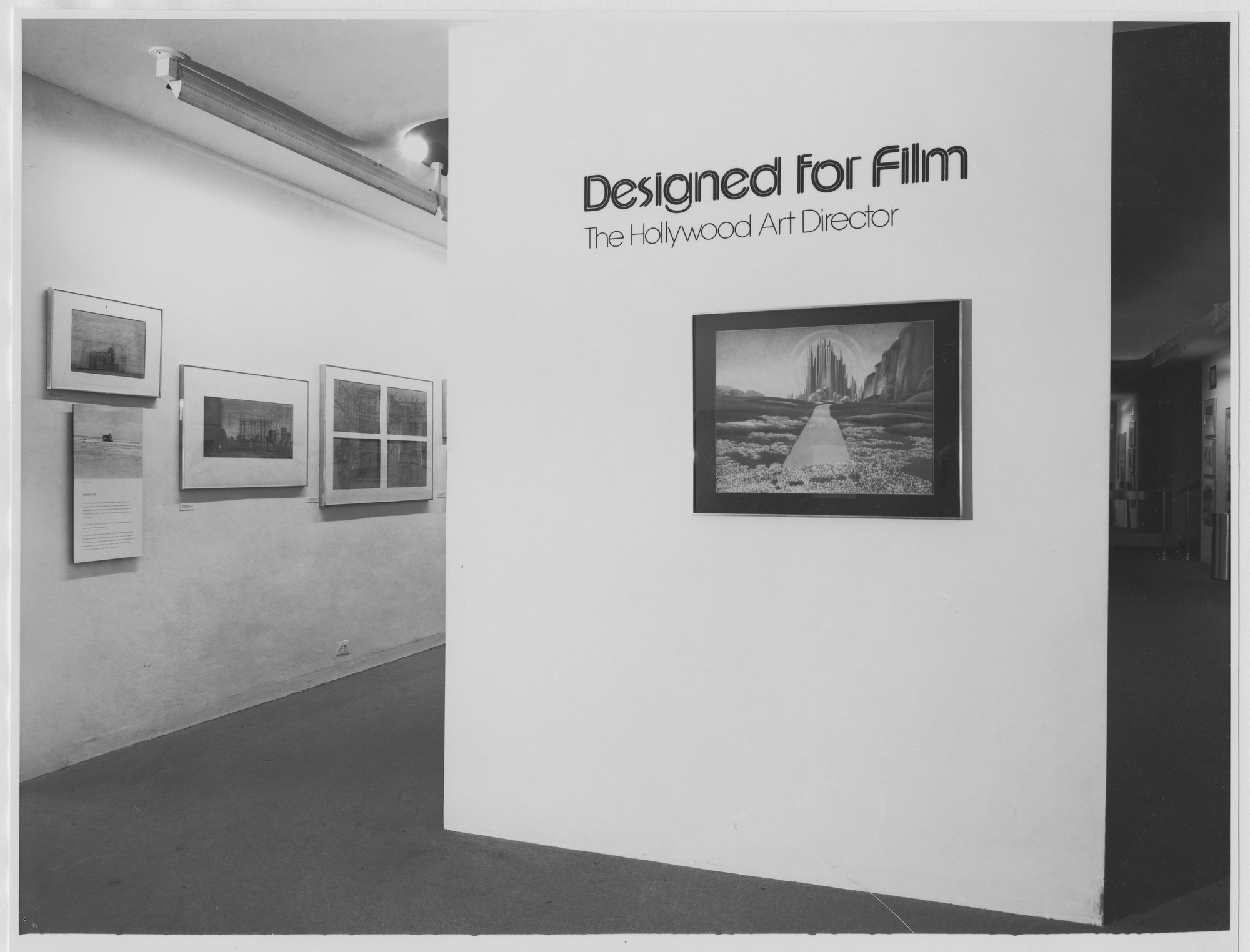 "Installation view of the exhibition, ""Designed for Film: The Hollywood Art Director"" May 11, 1978–September 26, 1978. Photographic Archive. The Museum of Modern Art Archives, New York. IN1213.1. Photograph by Katherine Keller."