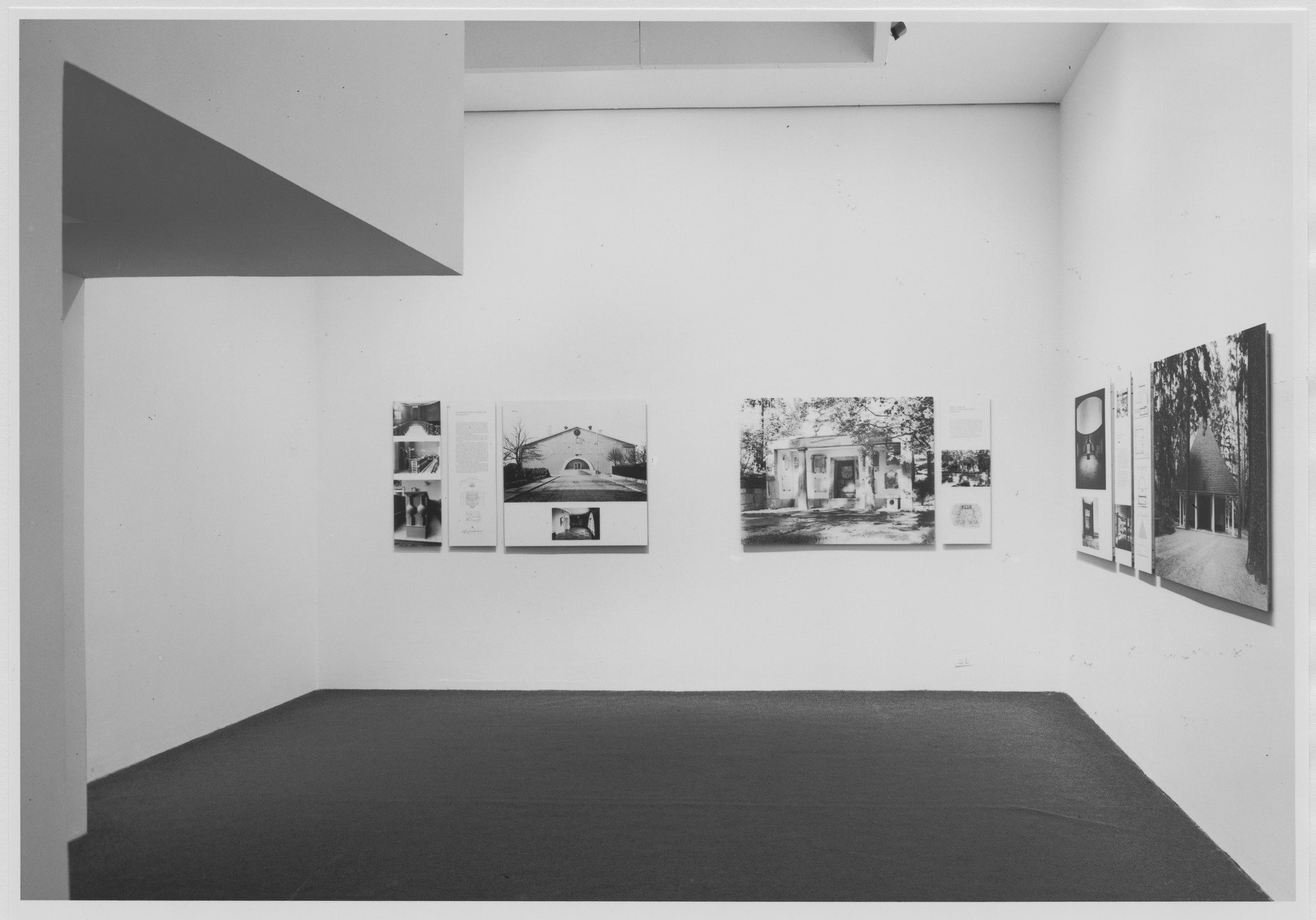 "Installation view of the exhibition, ""The Architecture of Gunnar Asplund"" June 30, 1978–October 1, 1978. Photographic Archive. The Museum of Modern Art Archives, New York. IN1218.1. Photograph by Katherine Keller."