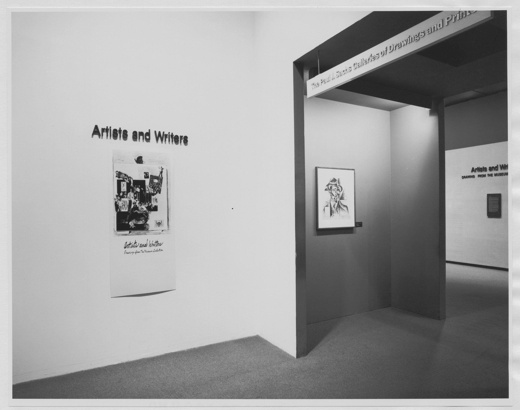"Installation view of the exhibition, ""Artists and Writers"" July 10, 1978–October 3, 1978. Photographic Archive. The Museum of Modern Art Archives, New York. IN1219.1. Photograph by Mali Olatunji."