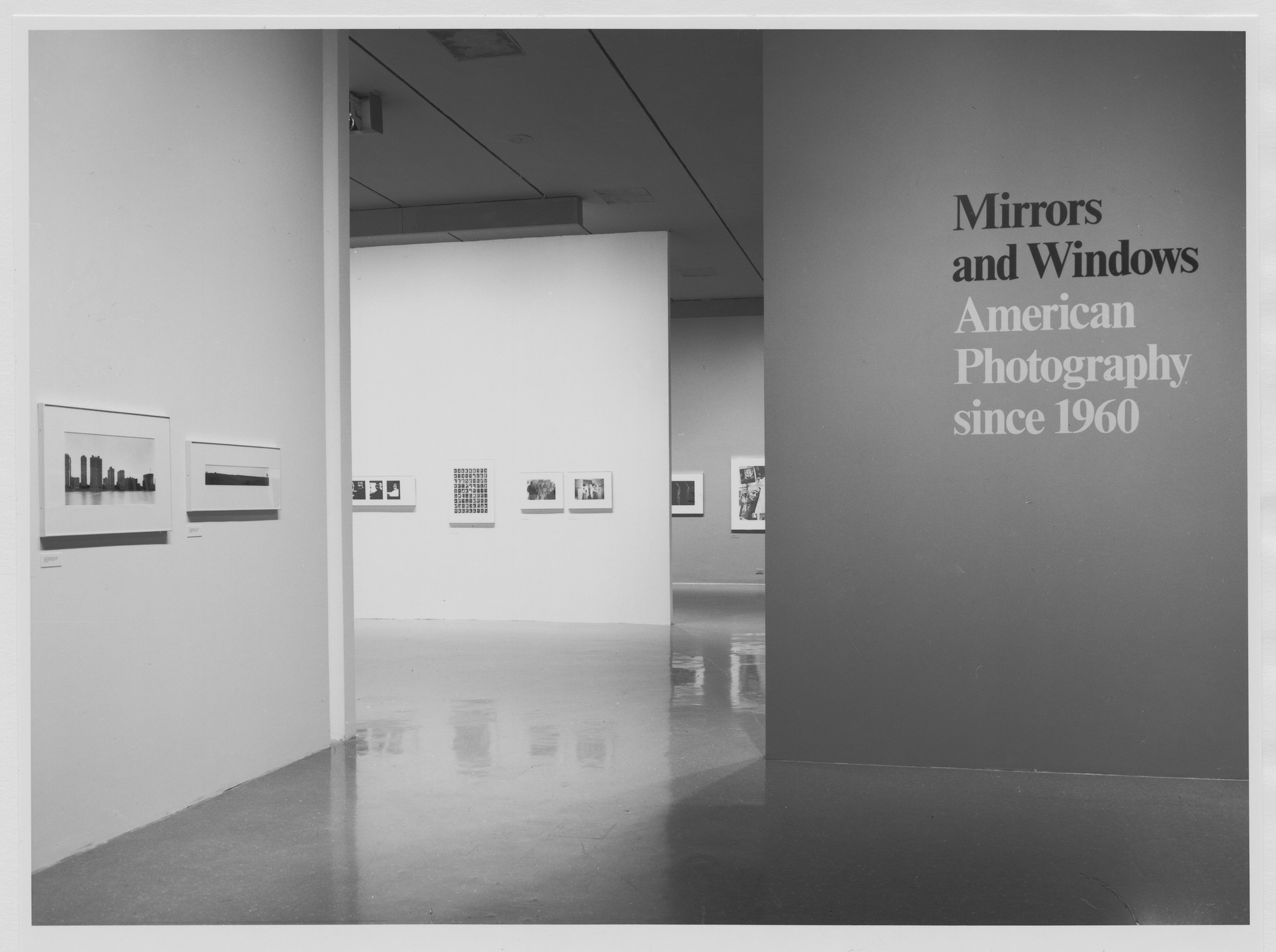 "Installation view of the exhibition, ""Mirrors and Windows: American Photography Since 1960"" July 26, 1978–October 2, 1978. Photographic Archive. The Museum of Modern Art Archives, New York. IN1221.1. Photograph by Katherine Keller."