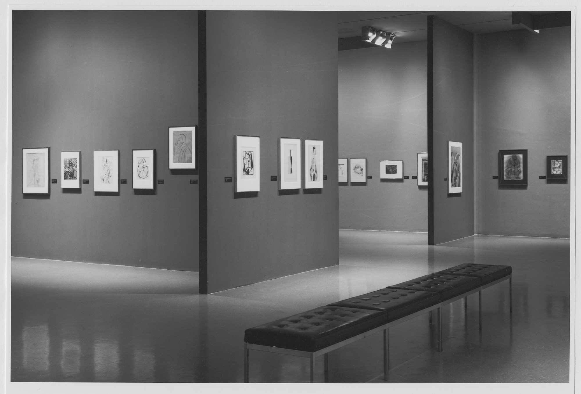 "Installation view of the exhibition, ""A Treasury of Modern Drawing:  The Joan and Lester Avnet Collection"" April 28, 1978–July 4, 1978. Photographic Archive. The Museum of Modern Art Archives, New York. IN1210.1. Photograph by Mali Olatunji."