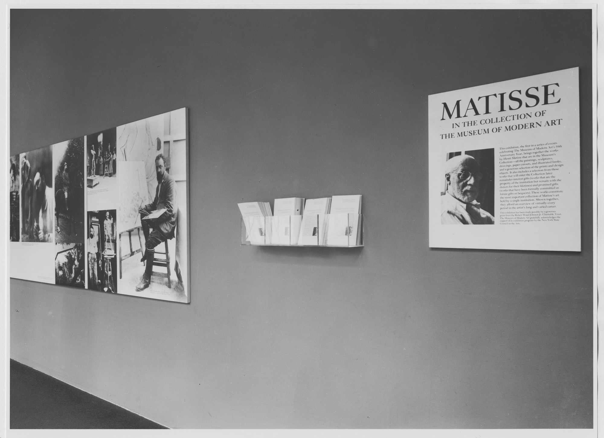 "Installation view of the exhibition, ""Matisse in the Collection of the Museum of Modern Art"" October 25, 1978–January 30, 1979. Photographic Archive. The Museum of Modern Art Archives, New York. IN1235.1. Photograph by Katherine Keller."