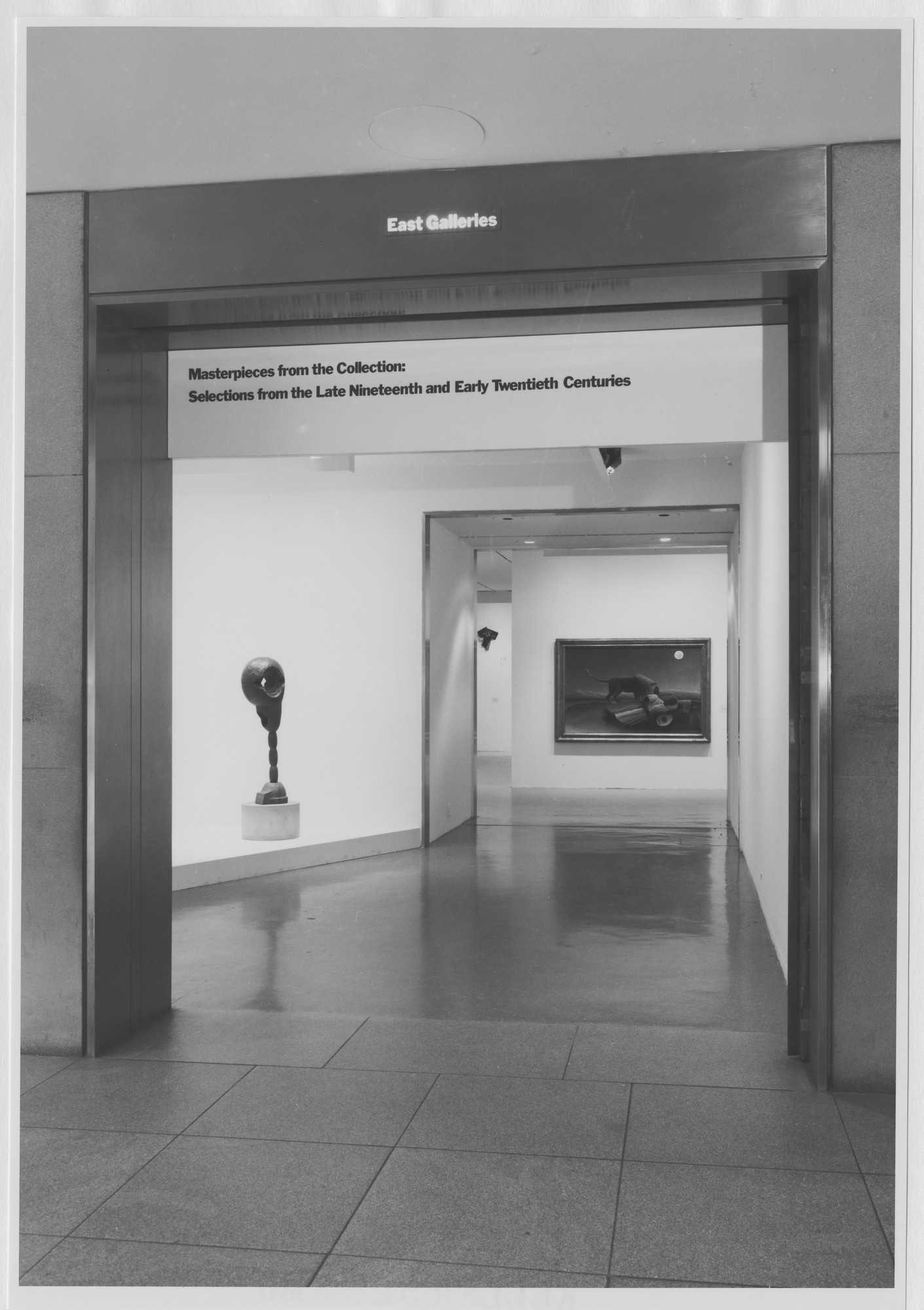 "Installation view of the exhibition, ""Masterworks from the Collection"" October 25, 1980–January 27, 1981. Photographic Archive. The Museum of Modern Art Archives, New York. IN1295.1. Photograph by Mali Olatunji."