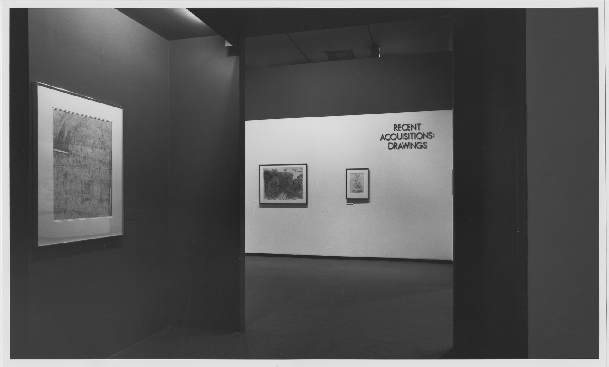 "Installation view of the exhibition, ""Recent Acquisitions: Drawing"" March 19, 1981–June 2, 1981. Photographic Archive. The Museum of Modern Art Archives, New York. IN1304.1. Photograph by Mali Olatunji."