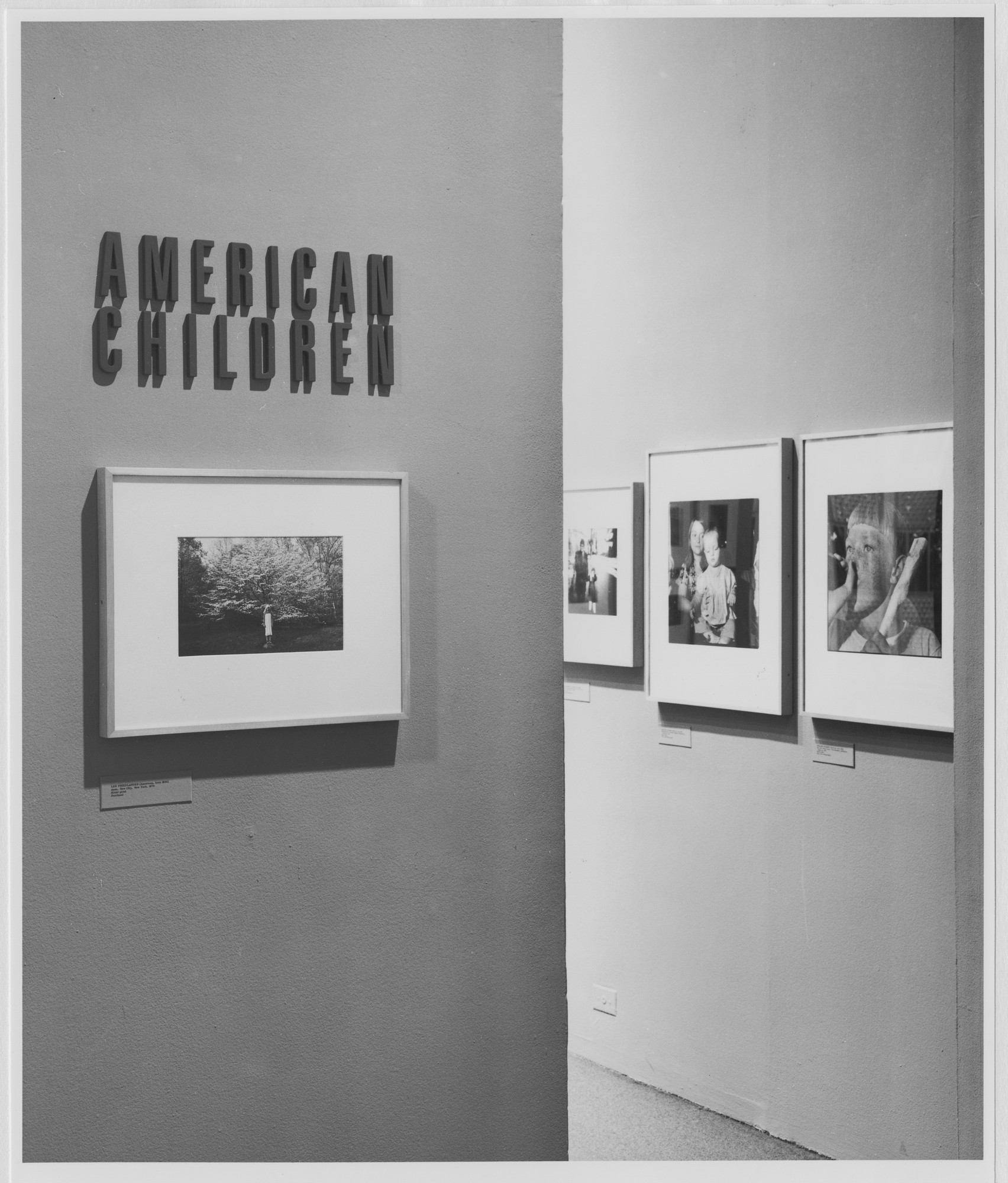 "Installation view of the exhibition, ""American Children"" January 8, 1981–March 29, 1981. Photographic Archive. The Museum of Modern Art Archives, New York. IN1301.1. Photograph by Mali Olatunji."