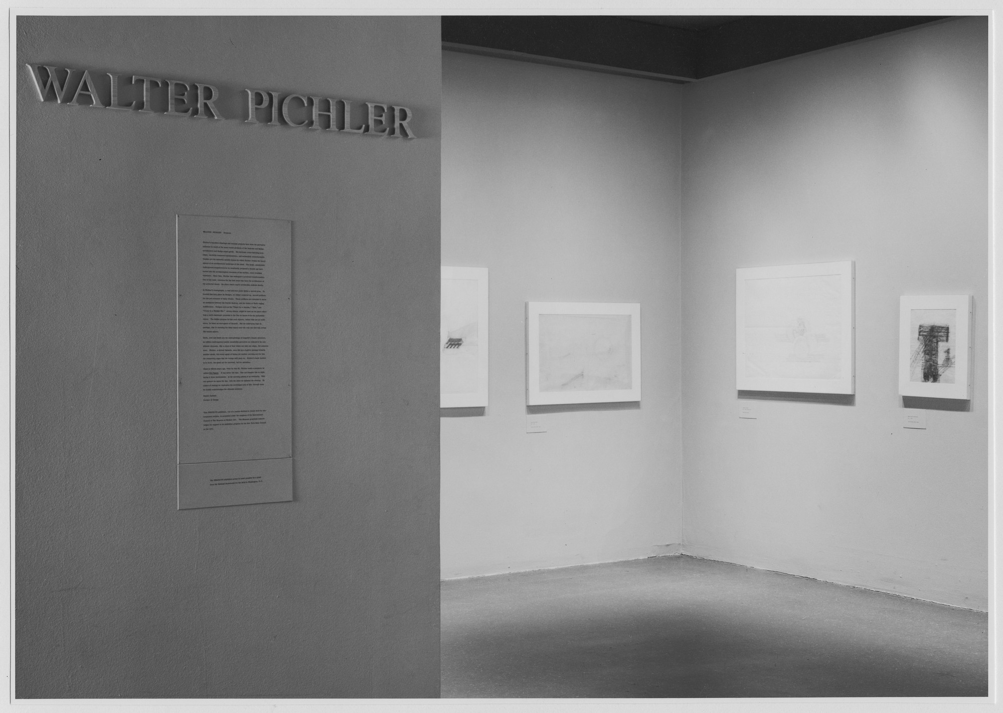 "Installation view of the exhibition, ""Projects: Walter Pichler."" September 12, 1975–November 3, 1975. Photographic Archive. The Museum of Modern Art Archives, New York. IN1108.1. Photograph by Katherine Keller."