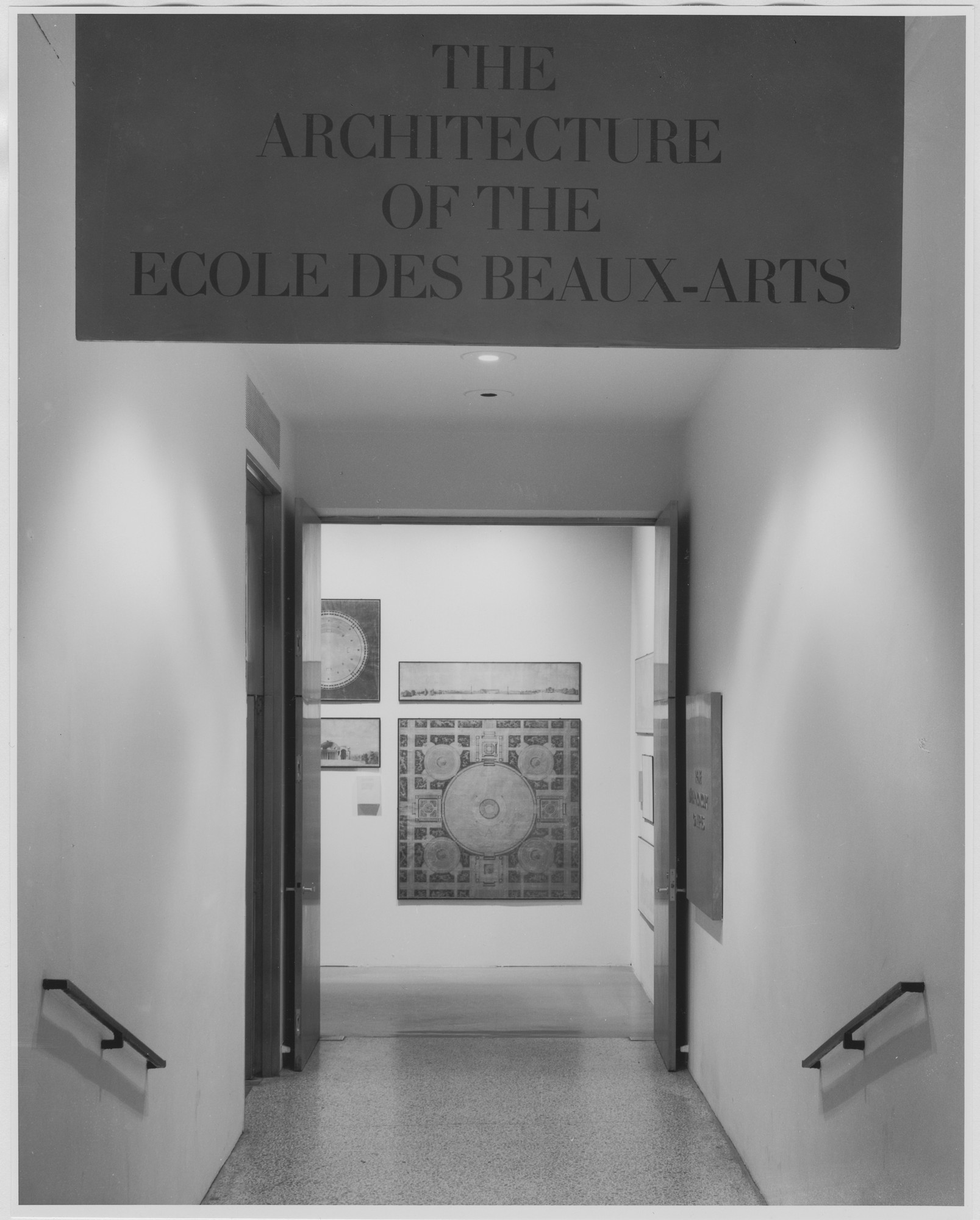 "Installation view of the exhibition, ""The Architecture of the Ecole des Beaux-Arts."" October 29, 1975–January 4, 1976. Photographic Archive. The Museum of Modern Art Archives, New York. IN1110.1. Photograph by David Allison."