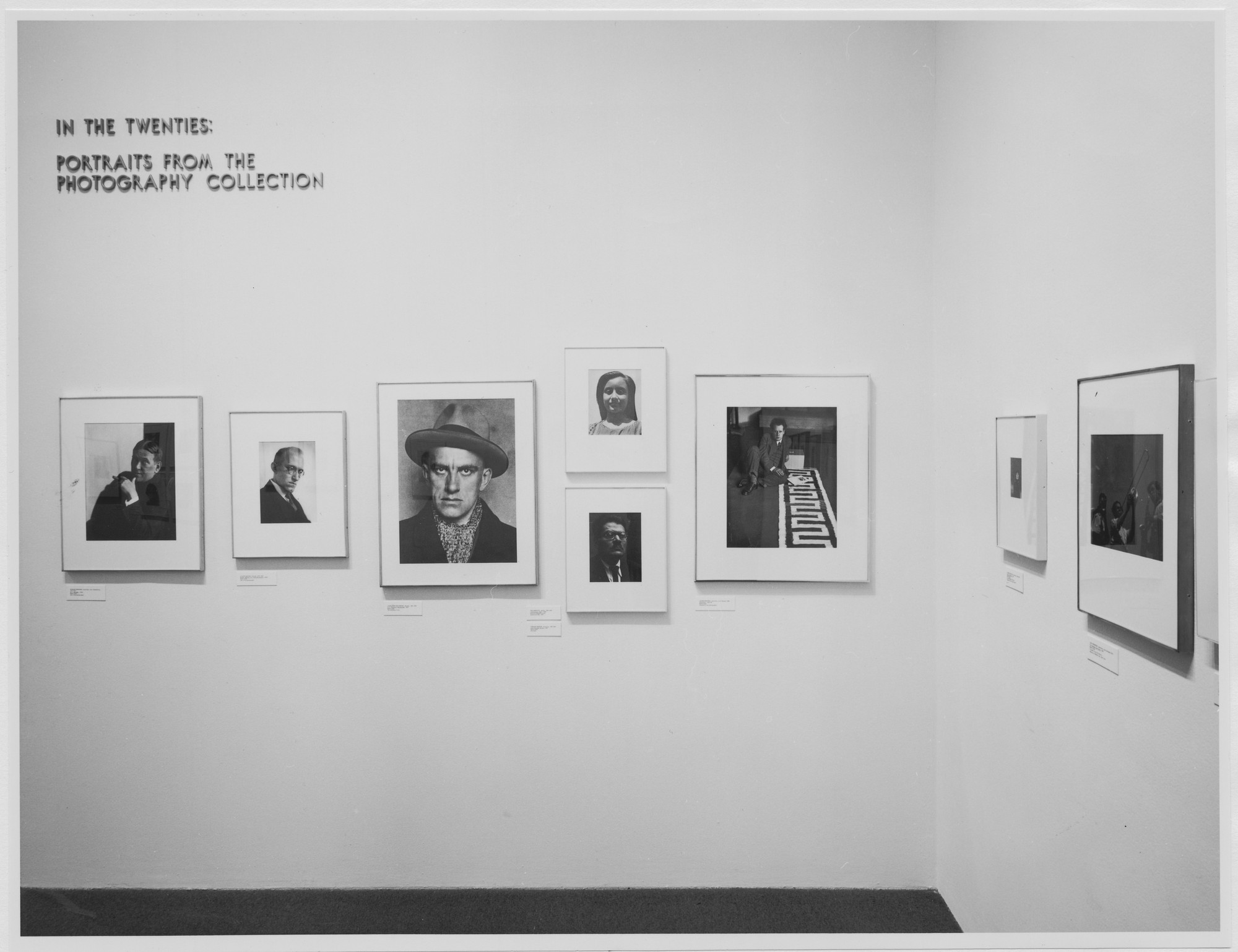 "Installation view of the exhibition, ""In the Twenties: Portraits from the Photography Collection"" November 14, 1979–March 16, 1980. Photographic Archive. The Museum of Modern Art Archives, New York. IN1278.1. Photograph by Mali Olatunji."