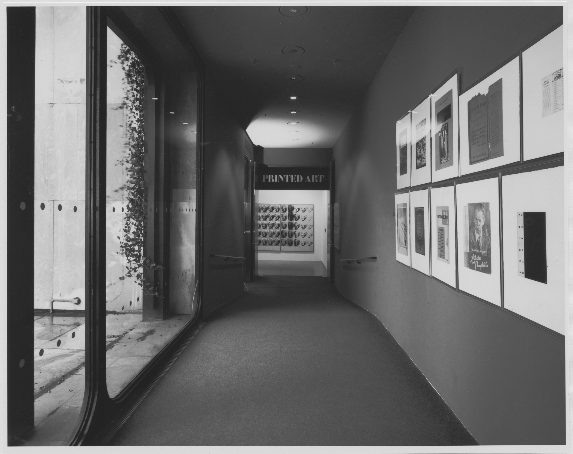"Installation view of the exhibition, ""Printed Art Since 1965"" February 13, 1980–April 1, 1980. Photographic Archive. The Museum of Modern Art Archives, New York. IN1287.1. Photograph by Mali Olatunji."