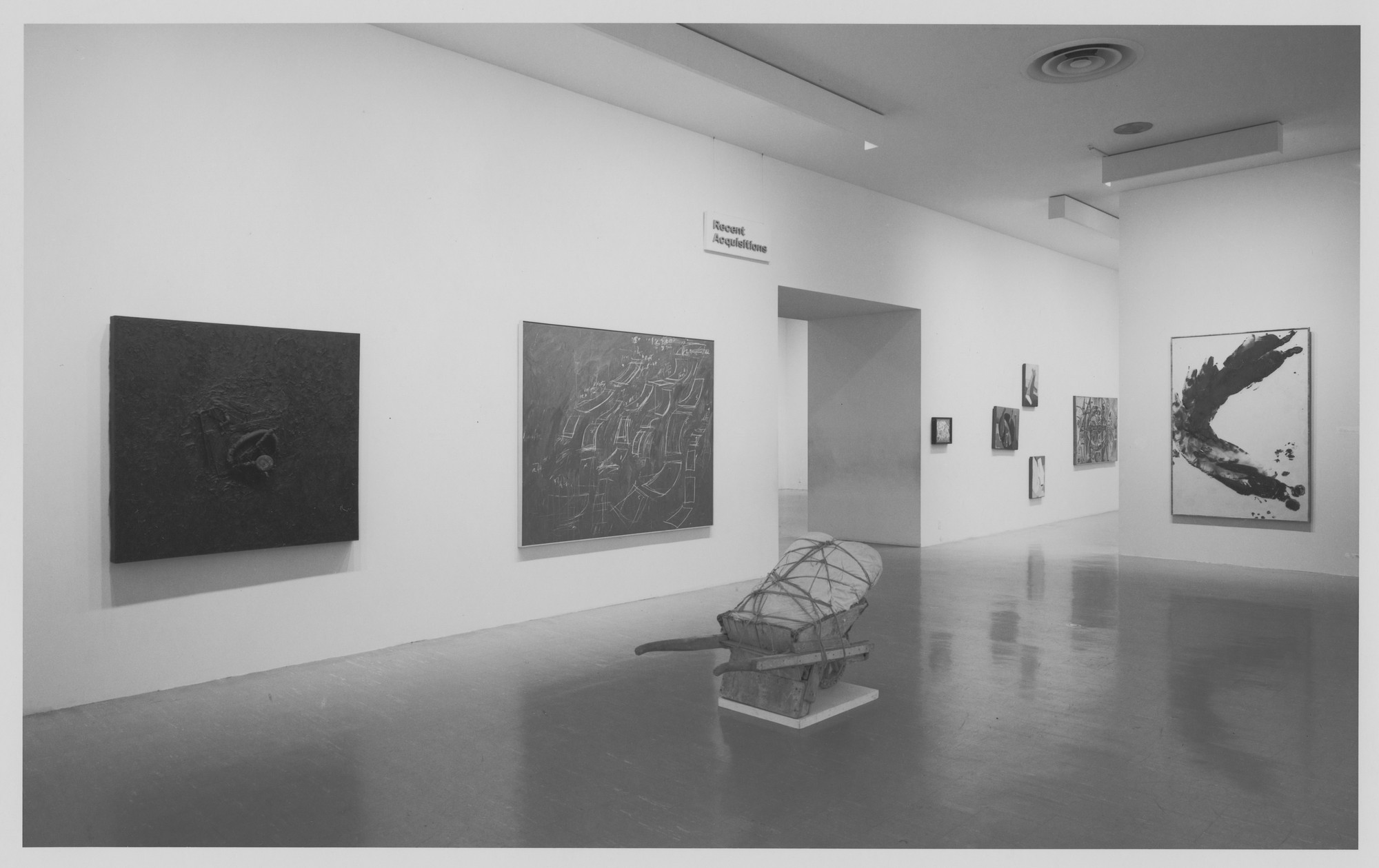 "Installation view of the exhibition, ""Recent Acquisitions V"" June 19, 1970–October 18, 1970. Photographic Archive. The Museum of Modern Art Archives, New York. IN930.1. Photograph by James Mathews."