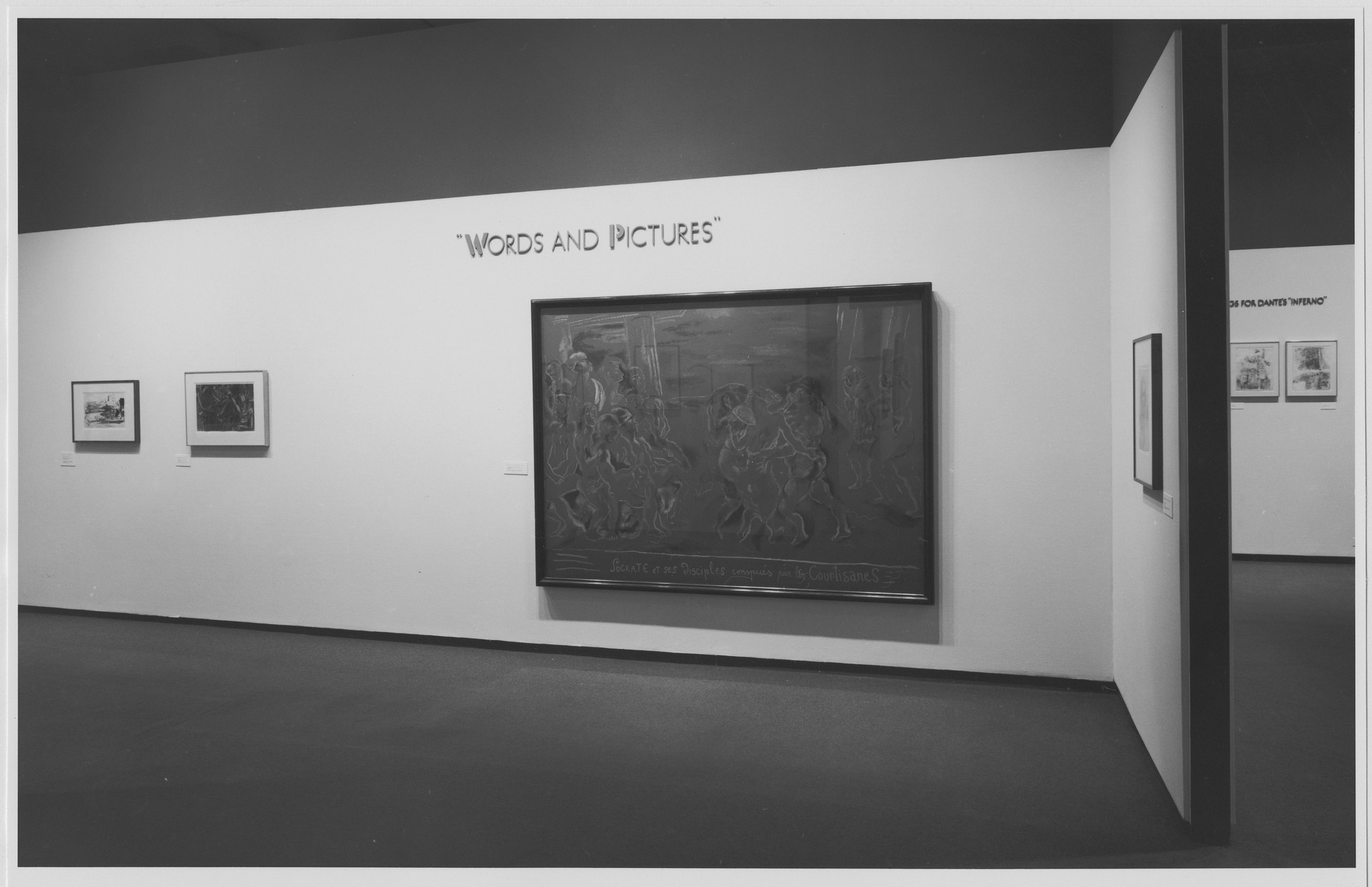 "Installation view of the exhibition, ""Words and Pictures"" August 20, 1981–October 6, 1981. Photographic Archive. The Museum of Modern Art Archives, New York. IN1317.1. Photograph by Mali Olatunji."