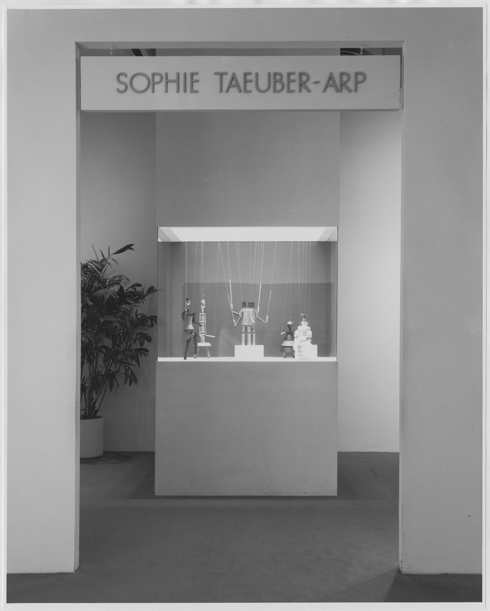 "Installation view of the exhibition, ""Sophie Taeuber-Arp"" September 17, 1981–December 13, 1981. Photographic Archive. The Museum of Modern Art Archives, New York. IN1319.1. Photograph by Mali Olatunji."