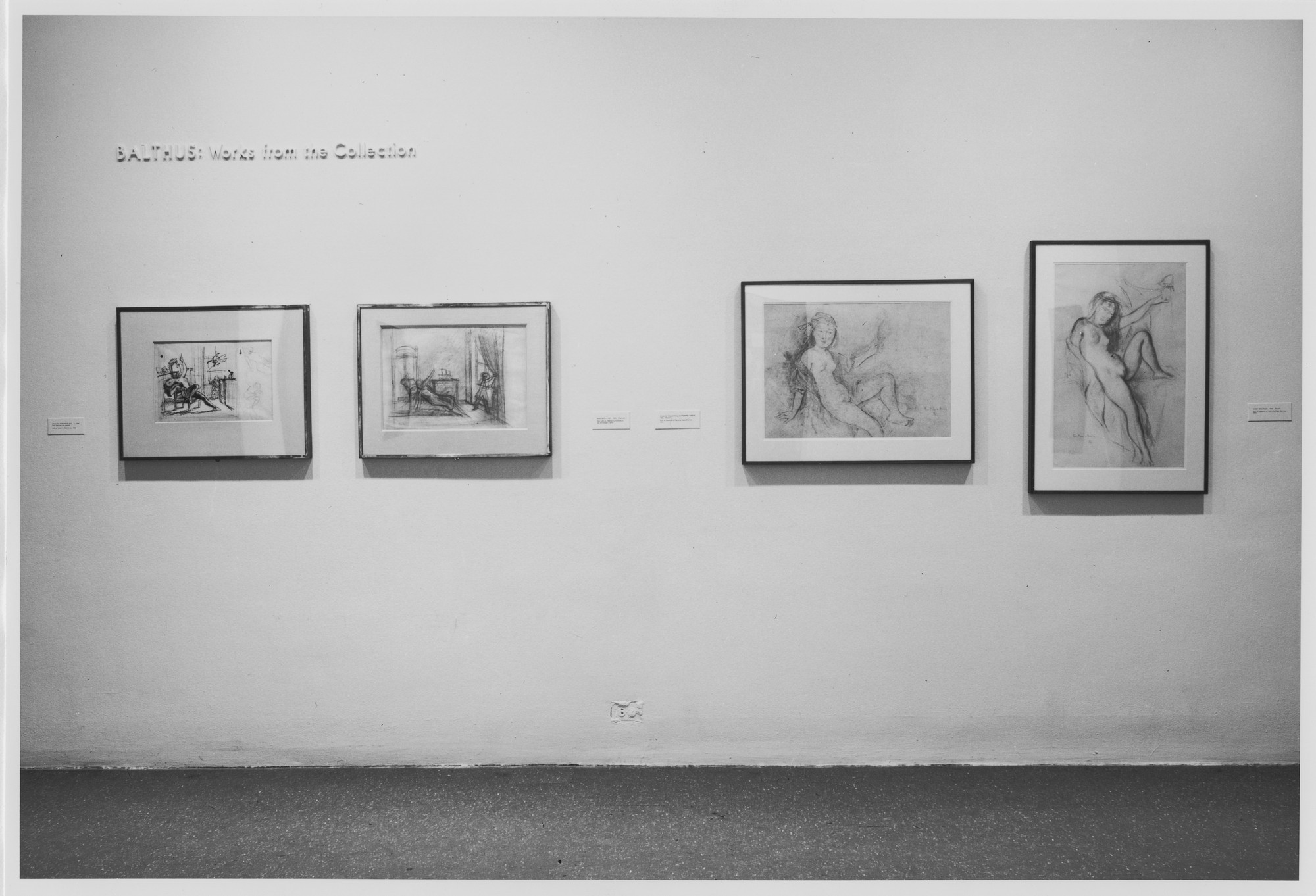 "Installation view of the exhibition, ""Balthus: Works from the Collection"" September 30, 1981–January 4, 1982. Photographic Archive. The Museum of Modern Art Archives, New York. IN1321.1. Photograph by Mali Olatunji."