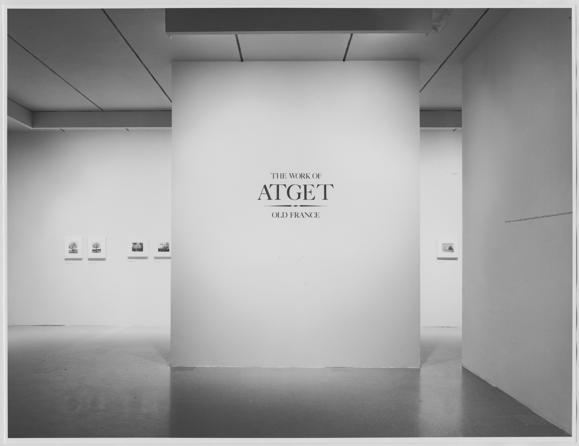 "Installation view of the exhibition, ""The Work of Atget: Old France"" October 3, 1981–January 3, 1982. Photographic Archive. The Museum of Modern Art Archives, New York. IN1322.1. Photograph by Katherine Keller."