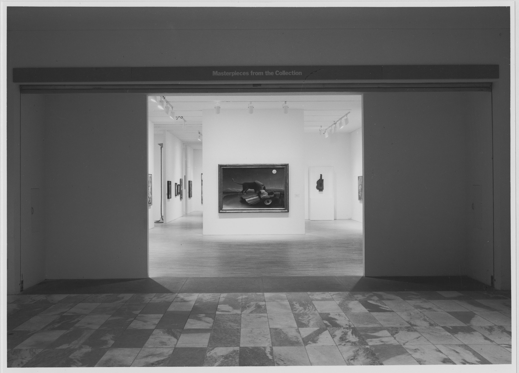 "Installation view of the exhibition, ""Selections from the Collections, Photography, Painting and Sculpture, Architecture and Design"" March 8, 1982–February/March 1983 [unknown closing date]. Photographic Archive. The Museum of Modern Art Archives, New York. IN1330.1. Photograph by Mali Olatunji."