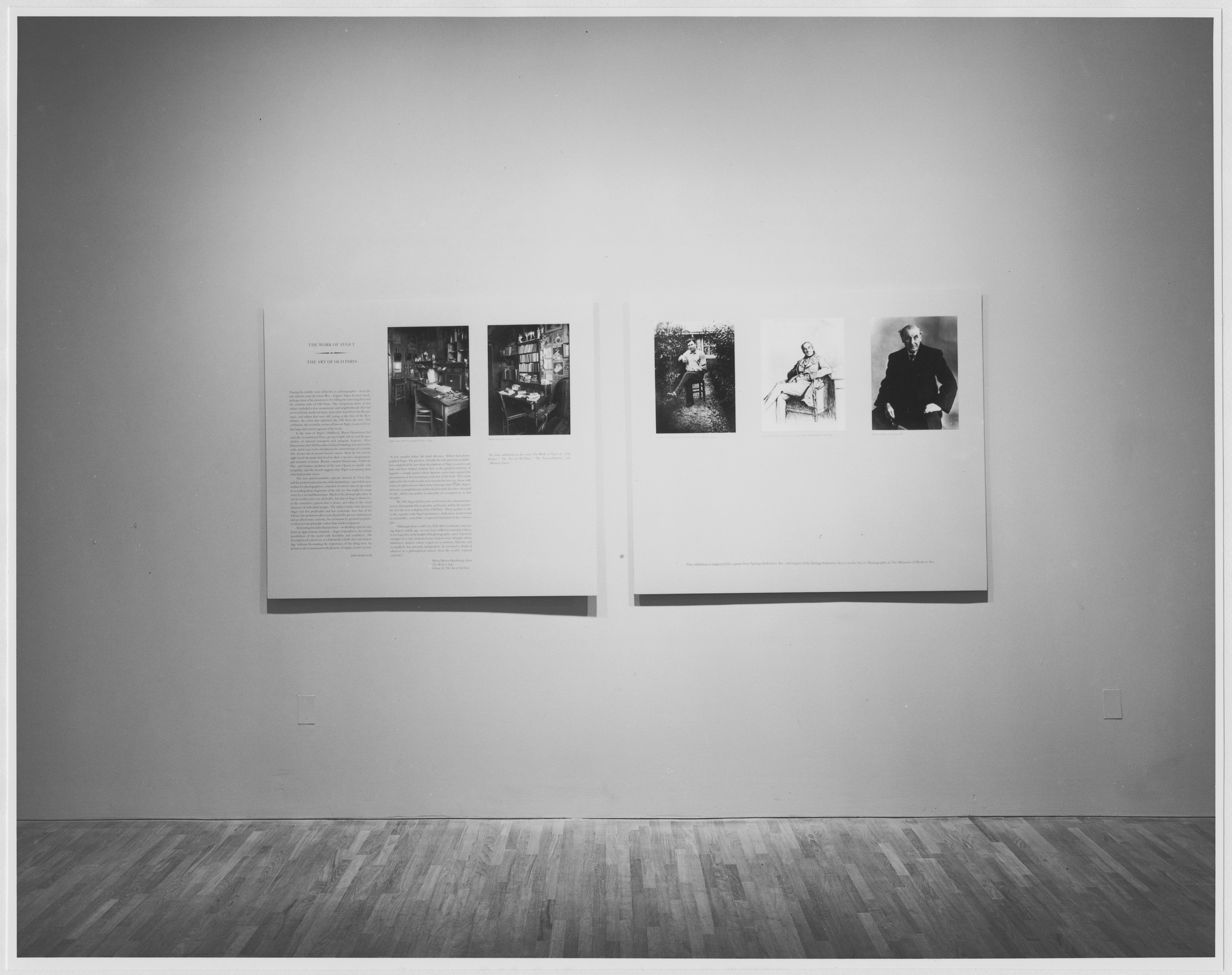 "Installation view of the exhibition, ""The Work of Atget: The Art of Old Paris"" October 14, 1982–January 4, 1983. Photographic Archive. The Museum of Modern Art Archives, New York. IN1335.1. Photograph by Mali Olatunji."
