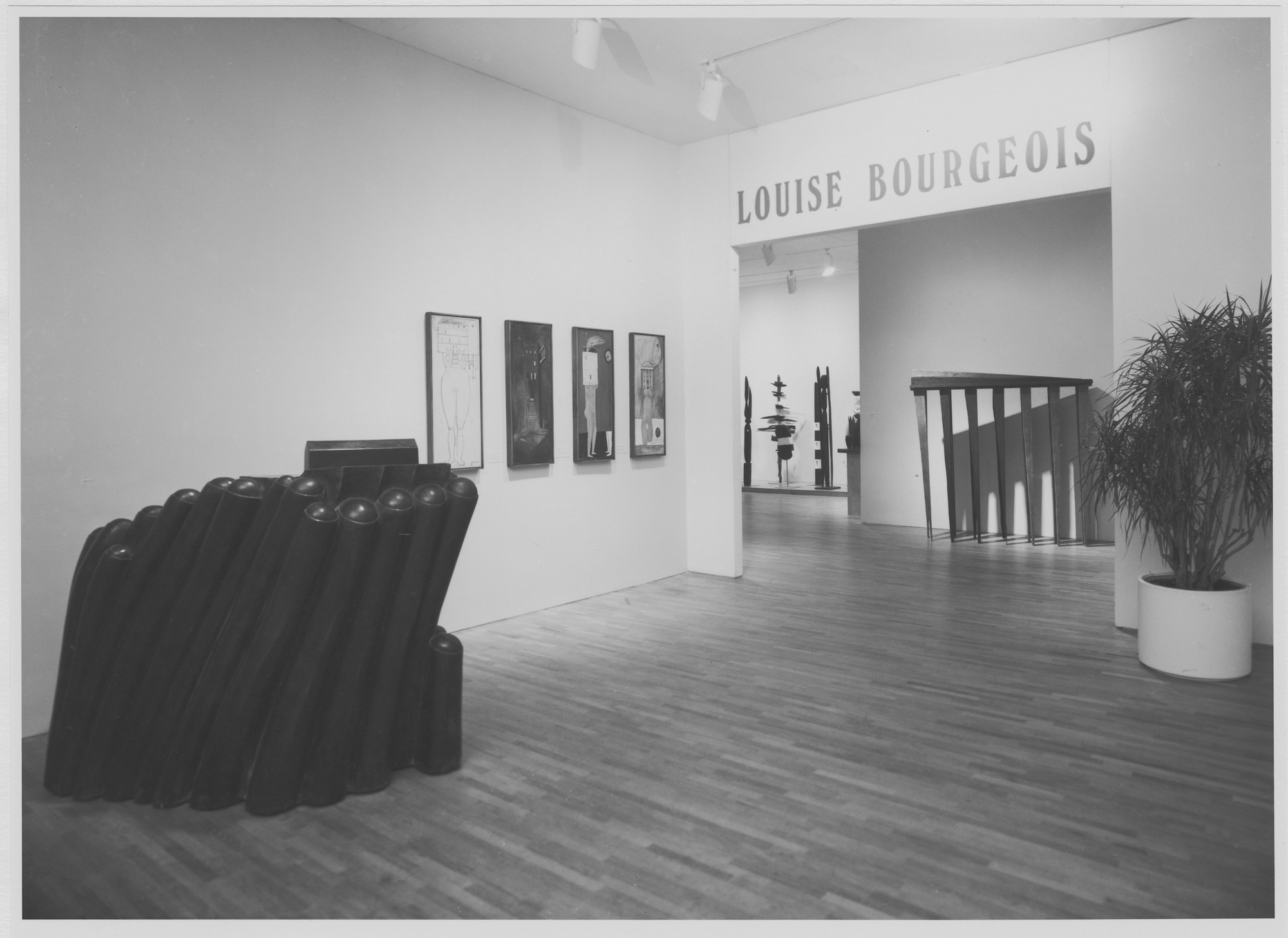 "Installation view of the exhibition, ""Louise Bourgeois"" November 3, 1982–February 8, 1983. Photographic Archive. The Museum of Modern Art Archives, New York. IN1337.1. Photograph by Katherine Keller."
