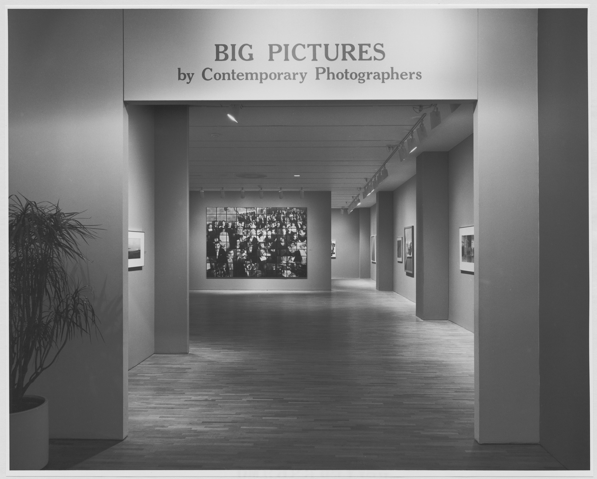 "Installation view of the exhibition, ""Big Pictures by Contemporary Photographers"" April 13, 1983–June 28, 1983. Photographic Archive. The Museum of Modern Art Archives, New York. IN1348.1. Photograph by Mali Olatunji."