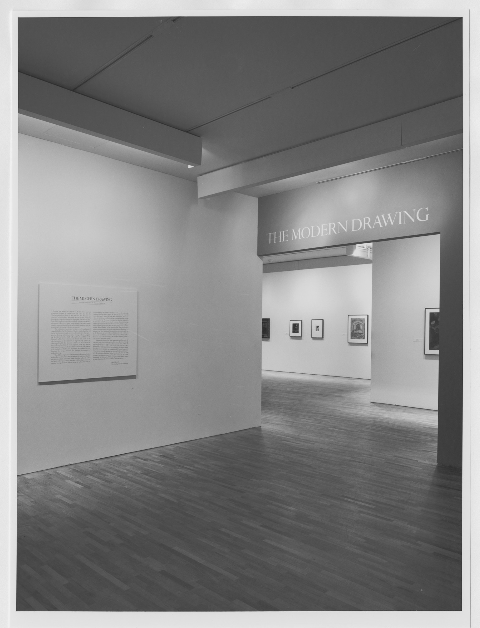"Installation view of the exhibition, ""The Modern Drawing: 100 Works on Paper"" October 26, 1983–January 3, 1984. Photographic Archive. The Museum of Modern Art Archives, New York. IN1367.1. Photograph by Mali Olatunji."