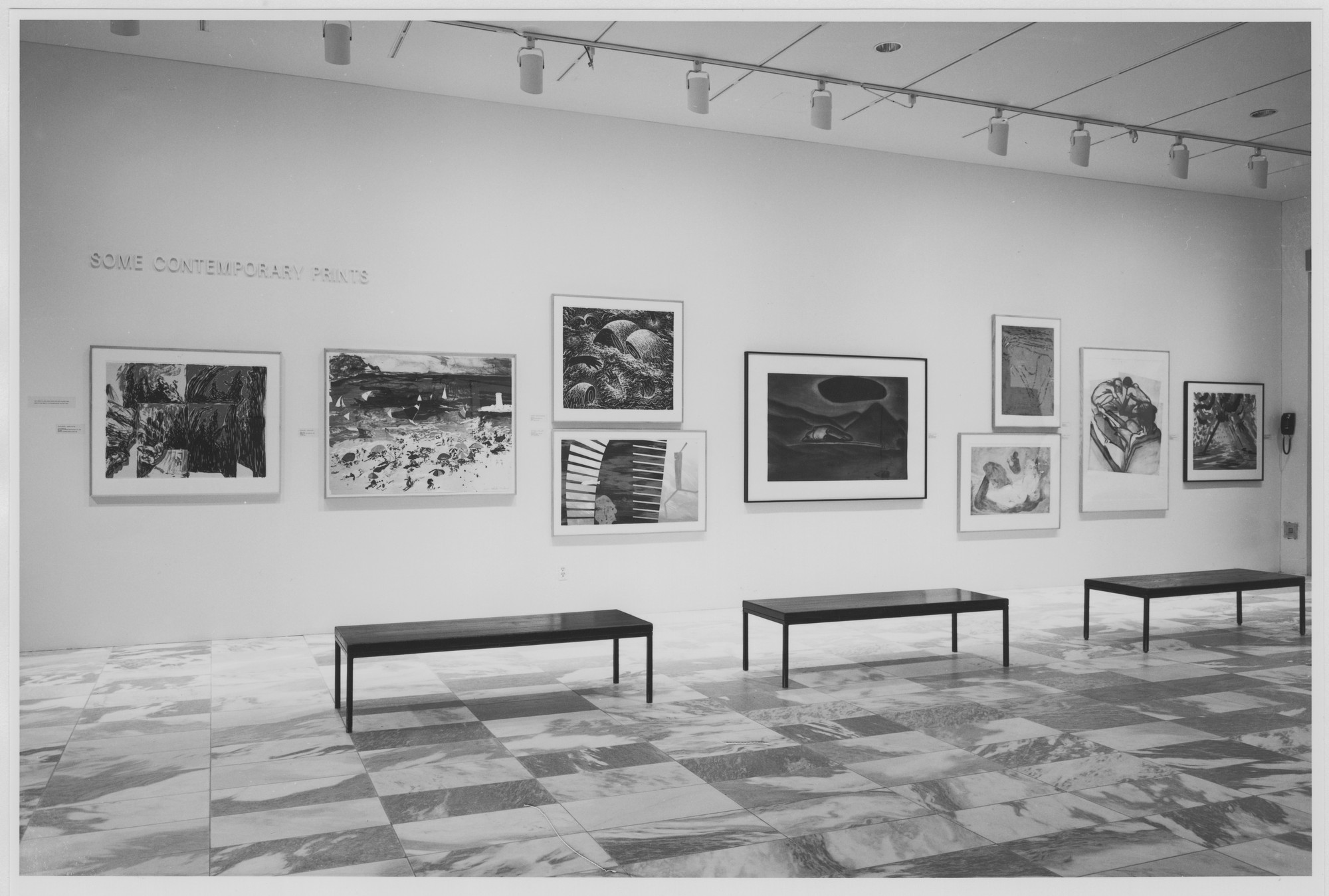 "Installation view of the exhibition, ""Some Contemporary Prints"" July 21, 1983–September 13, 1983. Photographic Archive. The Museum of Modern Art Archives, New York. IN1359.1. Photograph by Katherine Keller."