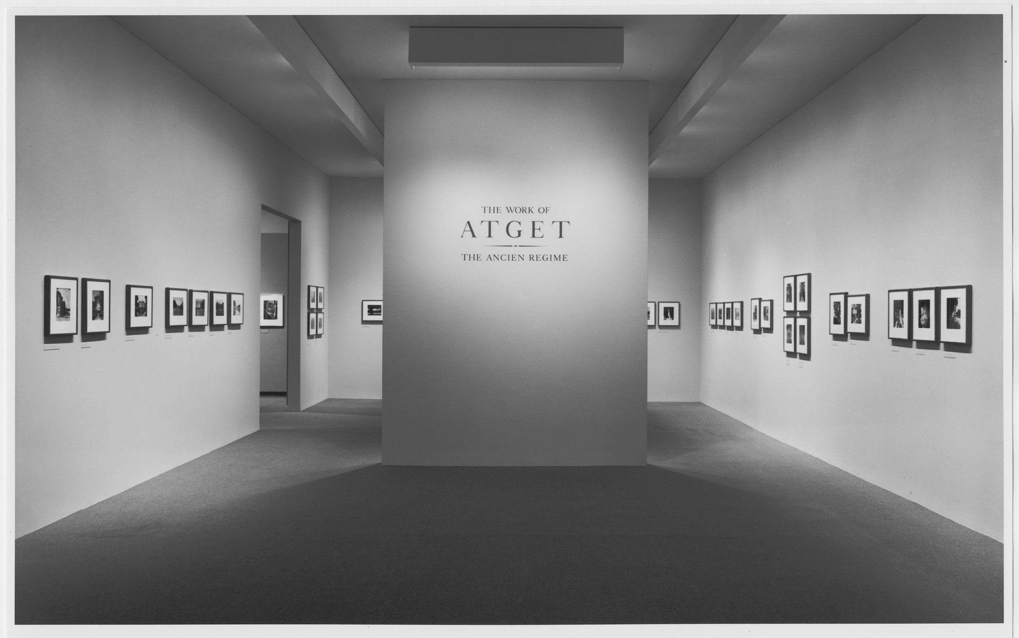 "Installation view of the exhibition, ""The Work of Atget: Ancien Regime"" March 14, 1985–May 14, 1985. Photographic Archive. The Museum of Modern Art Archives, New York. IN1394.1. Photograph by Katherine Keller."