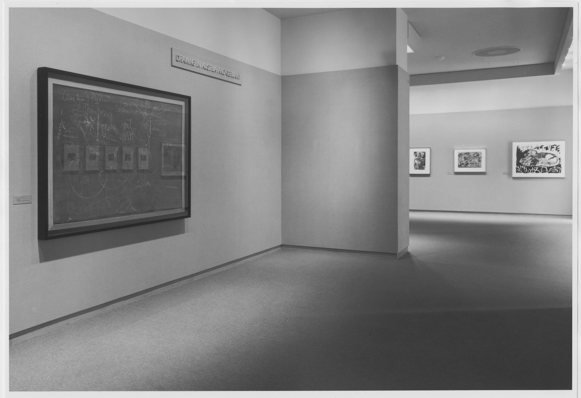 "Installation view of the exhibition, ""Drawings in Austria and Germany"" May 25, 1985–October 29, 1985. Photographic Archive. The Museum of Modern Art Archives, New York. IN1398.1. Photograph by Katherine Keller."