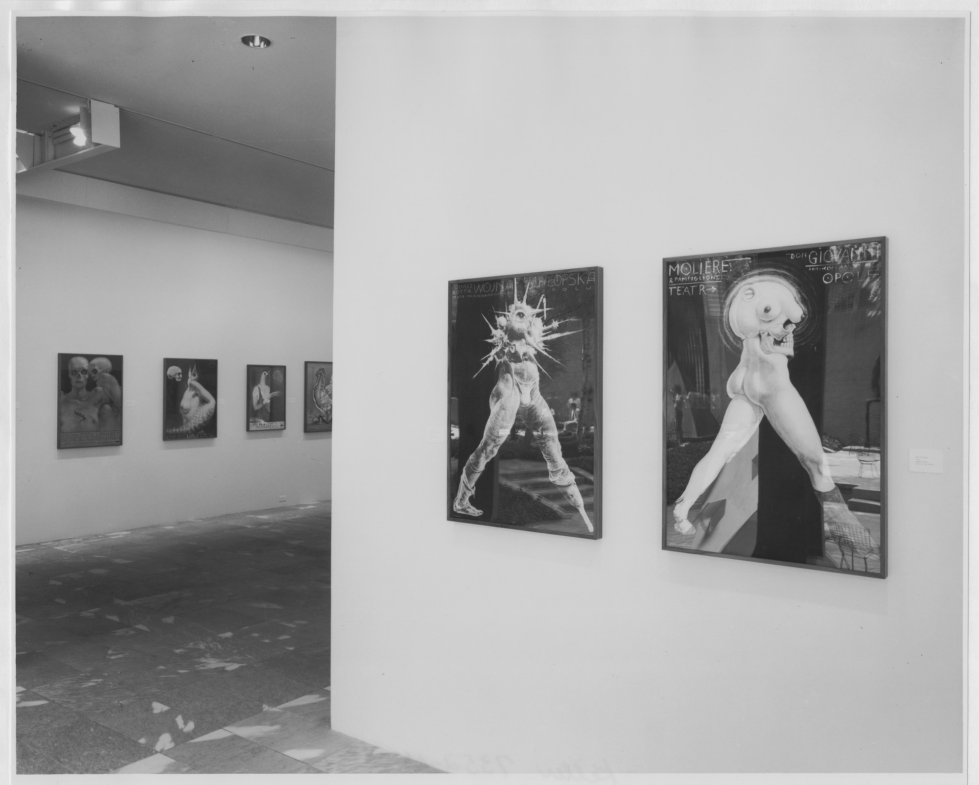 "Installation view of the exhibition, ""Posters by Starowieyski"" April 11, 1985–June 4, 1985. Photographic Archive. The Museum of Modern Art Archives, New York. IN1396.1. Photograph by Mali Olatunji."