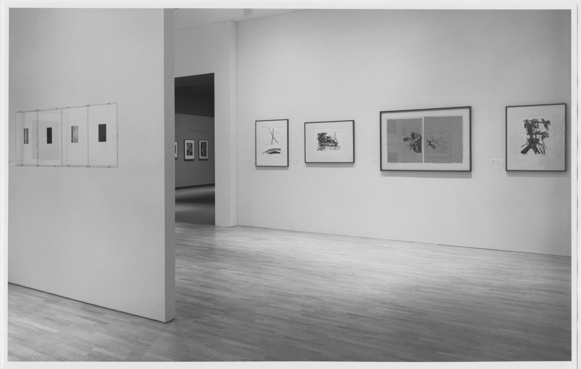 "Installation view of the exhibition, ""Tatyana Grosman Gallery"" September 12, 1985–February 4, 1986. Photographic Archive. The Museum of Modern Art Archives, New York. IN1404b.1. Photograph by Mali Olatunji."