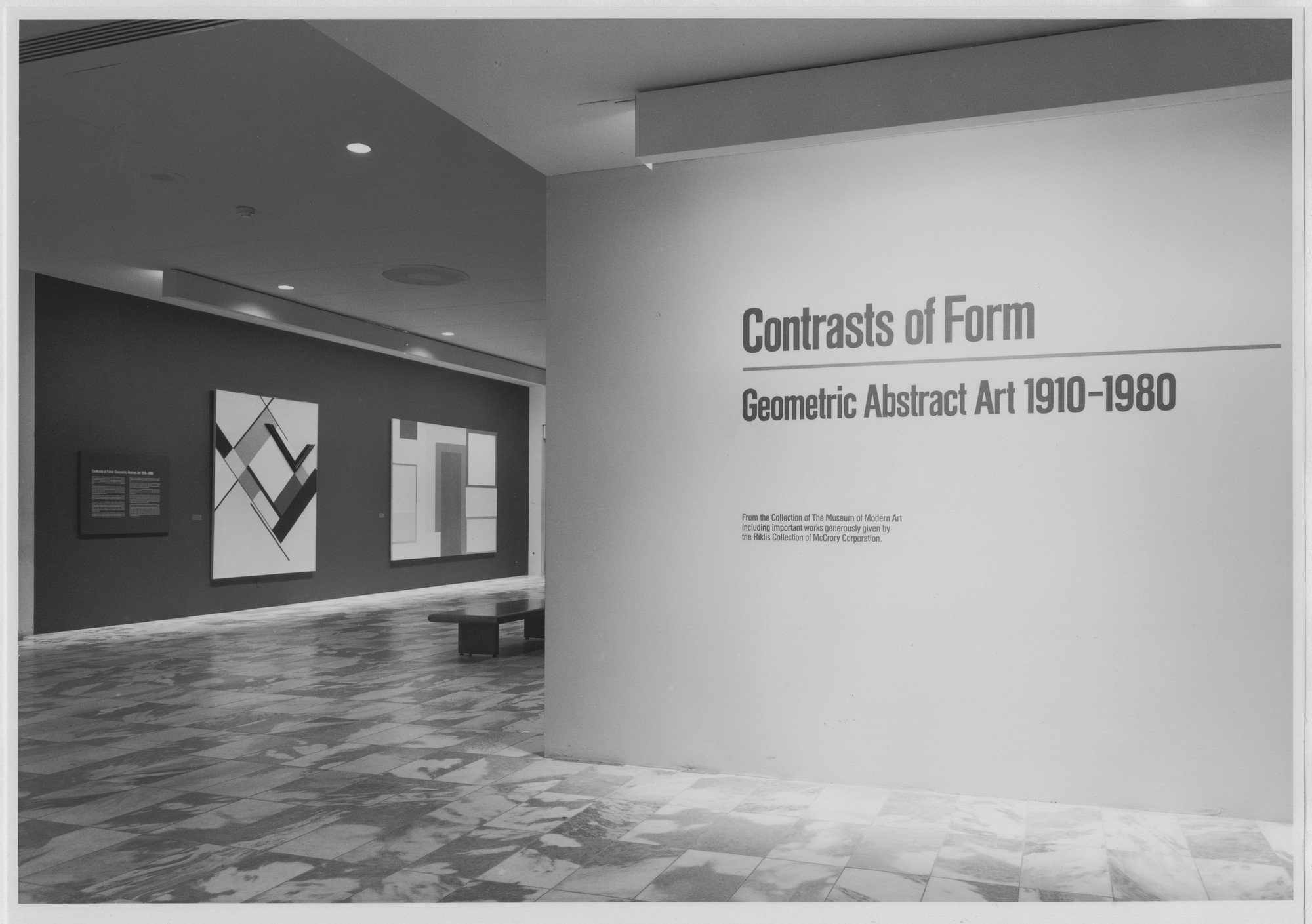 "Installation view of the exhibition, ""Contrasts of Form: Geometric Abstract Art 1910-1980"" October 2, 1985–January 7, 1986. Photographic Archive. The Museum of Modern Art Archives, New York. IN1407.1. Photograph by Katherine Keller."