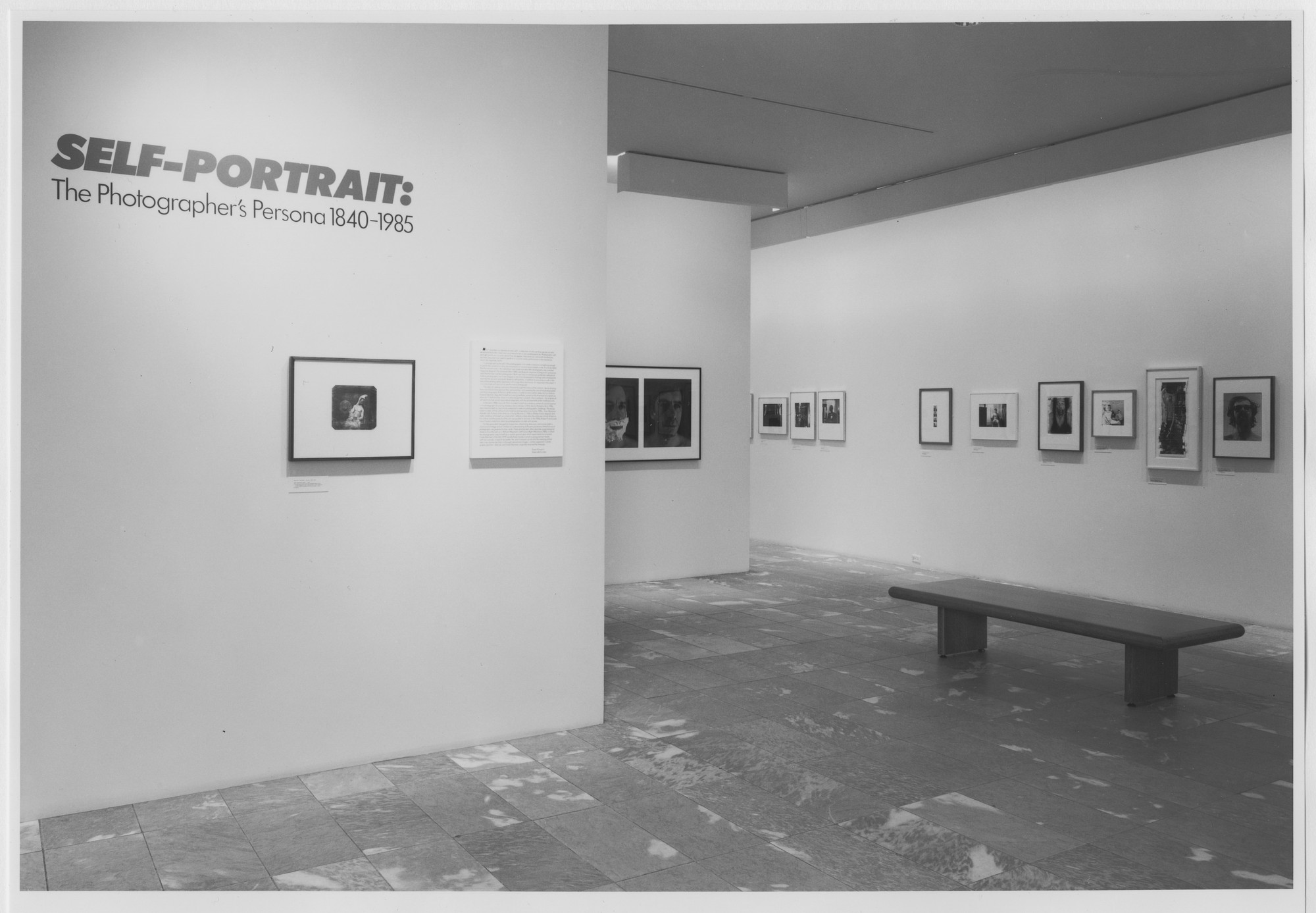 "Installation view of the exhibition, ""Self-Portrait: The Photographer's Persona 1840-1985"" November 7, 1985–January 7, 1986. Photographic Archive. The Museum of Modern Art Archives, New York. IN1409.1. Photograph by Mali Olatunji."