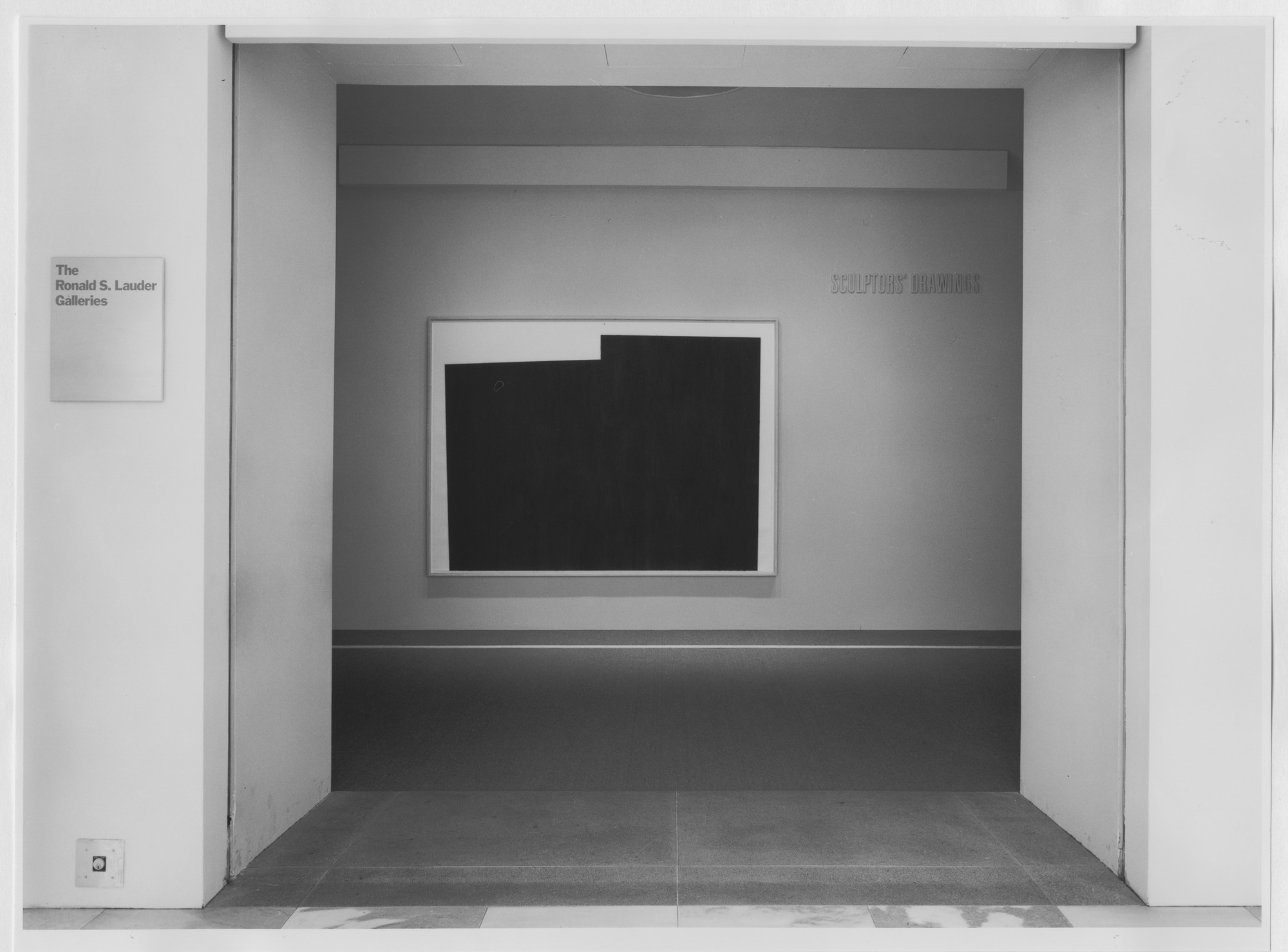 "Installation view of the exhibition, ""Sculptor's Drawings"" April 26, 1986–September 2, 1986. Photographic Archive. The Museum of Modern Art Archives, New York. IN1420.1. Photograph by Mali Olatunji."
