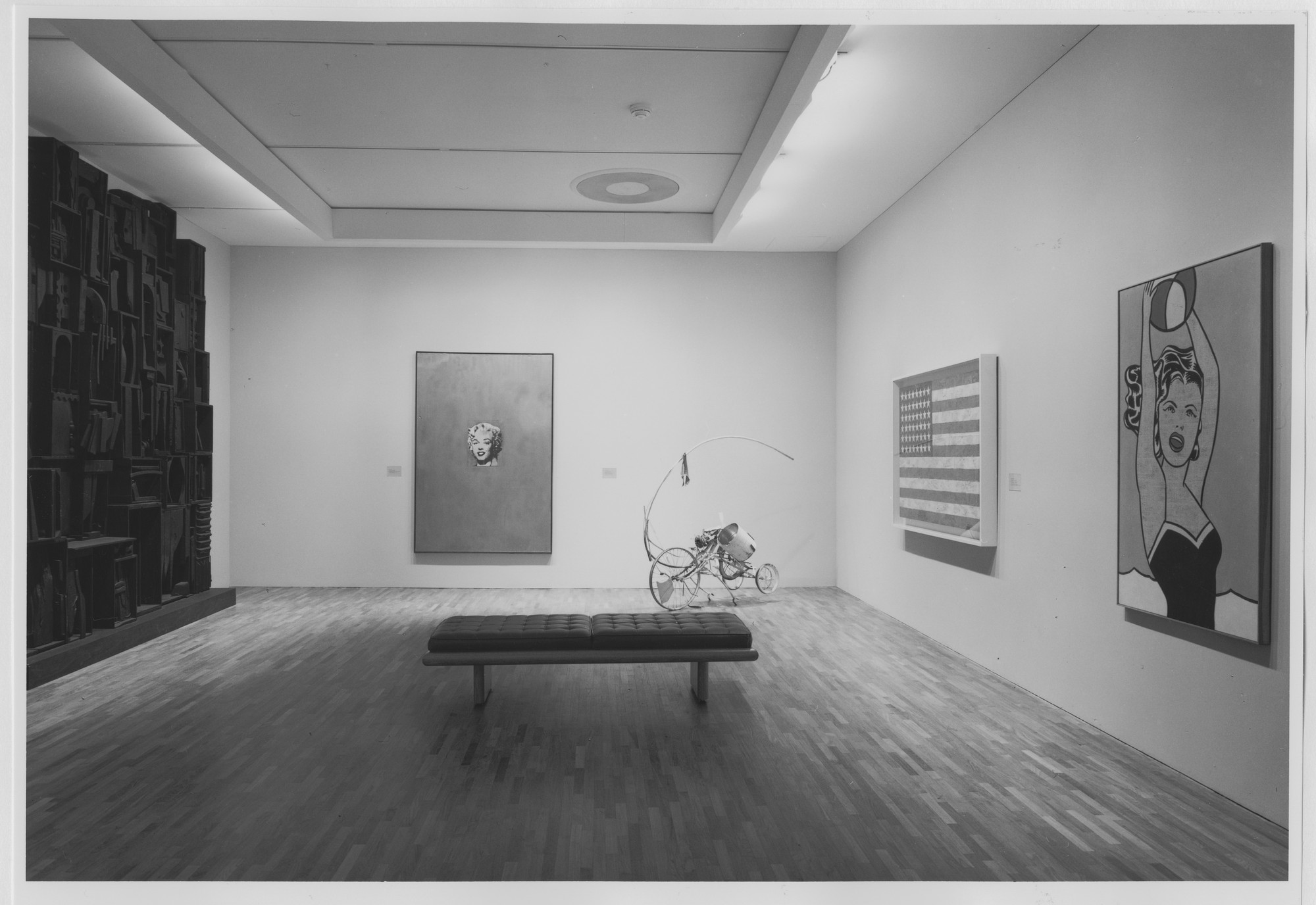 "Installation view of the exhibition, ""Contemporary Works from the Collection"" November 6, 1986–March 31, 1987. Photographic Archive. The Museum of Modern Art Archives, New York. IN1432.1. Photograph by Katherine Keller."