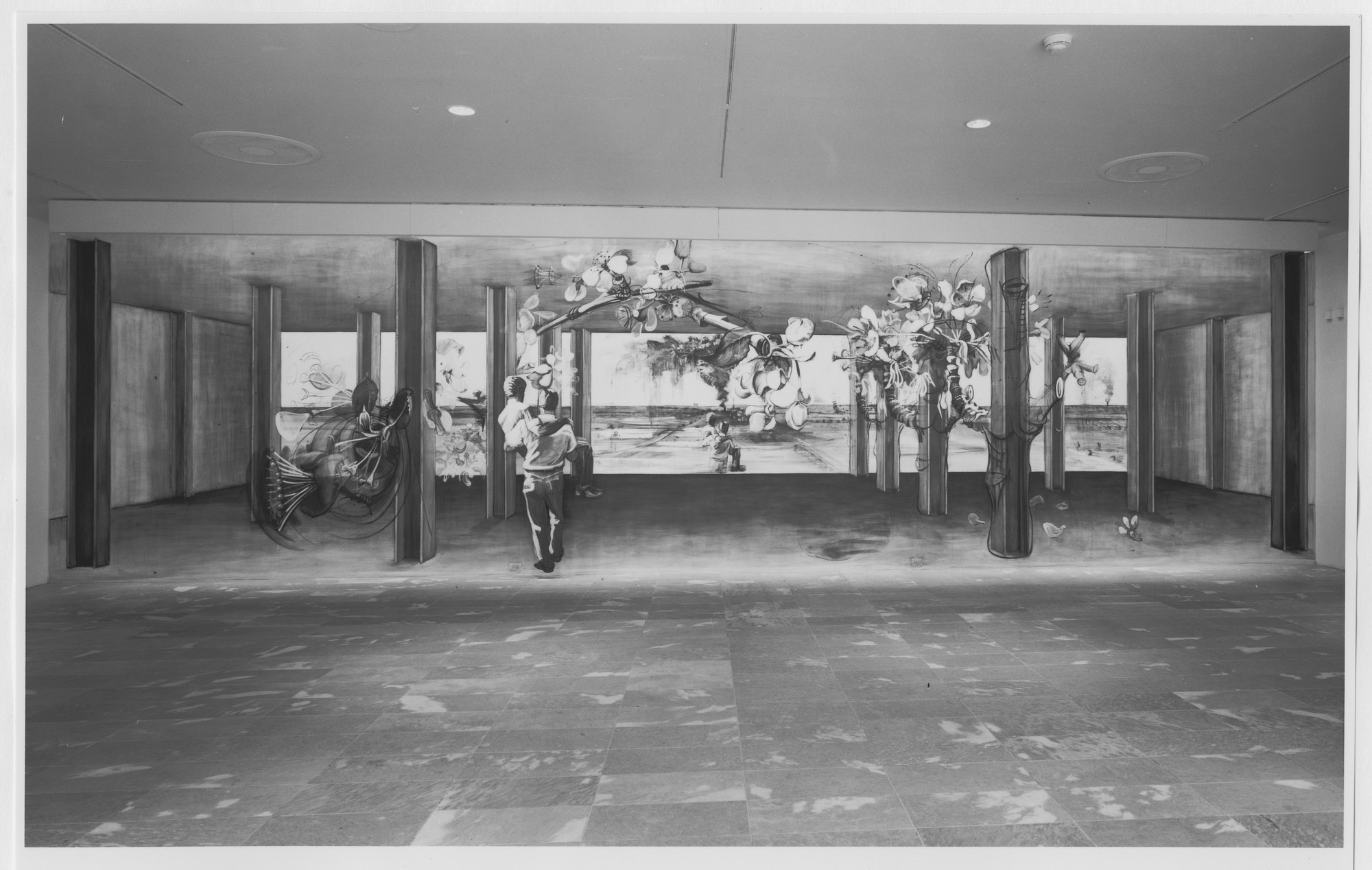 "Installation view of the exhibition, ""Projects: Mike Glier"" May 9, 1987–July 7, 1987. Photographic Archive. The Museum of Modern Art Archives, New York. IN1448.1. Photograph by Mali Olatunji."