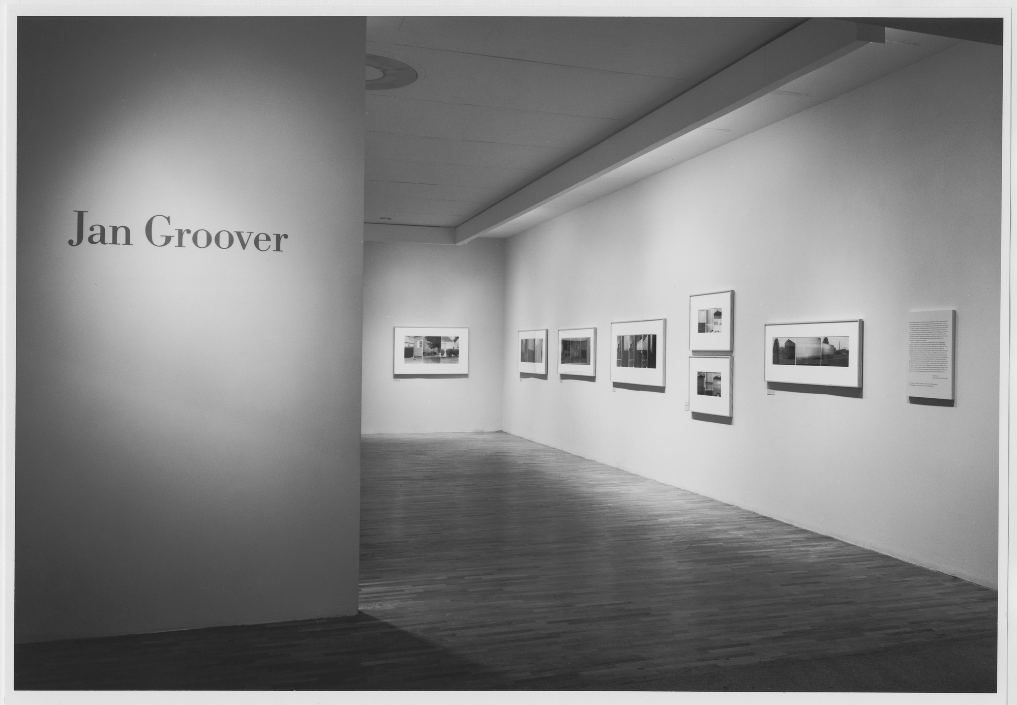 "Installation view of the exhibition, ""Jan Groover"" March 5, 1987–June 2, 1987. Photographic Archive. The Museum of Modern Art Archives, New York. IN1441.1. Photograph by Mali Olatunji."