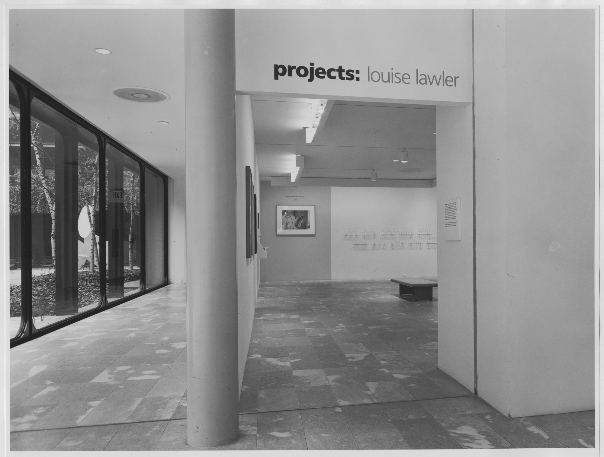 "Installation view of the exhibition, ""Projects: Louise Lawler"" September 19, 1987–November 29, 1987. Photographic Archive. The Museum of Modern Art Archives, New York. IN1462.1. Photograph by Mali Olatunji."