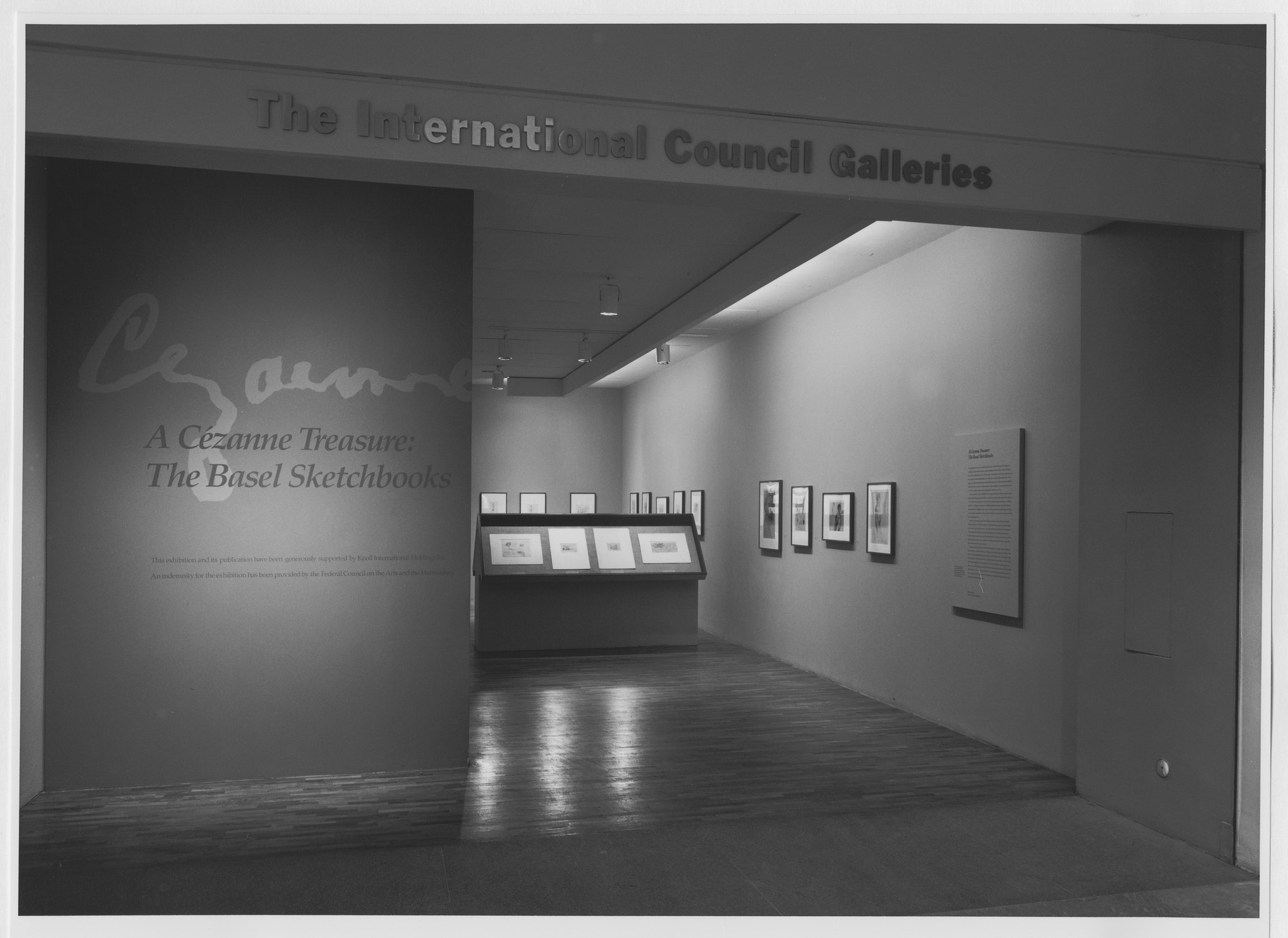 "Installation view of the exhibition, ""Cézanne Sketchbooks"" March 10, 1988–June 5, 1988. Photographic Archive. The Museum of Modern Art Archives, New York. IN1479.1. Photograph by Mali Olatunji."