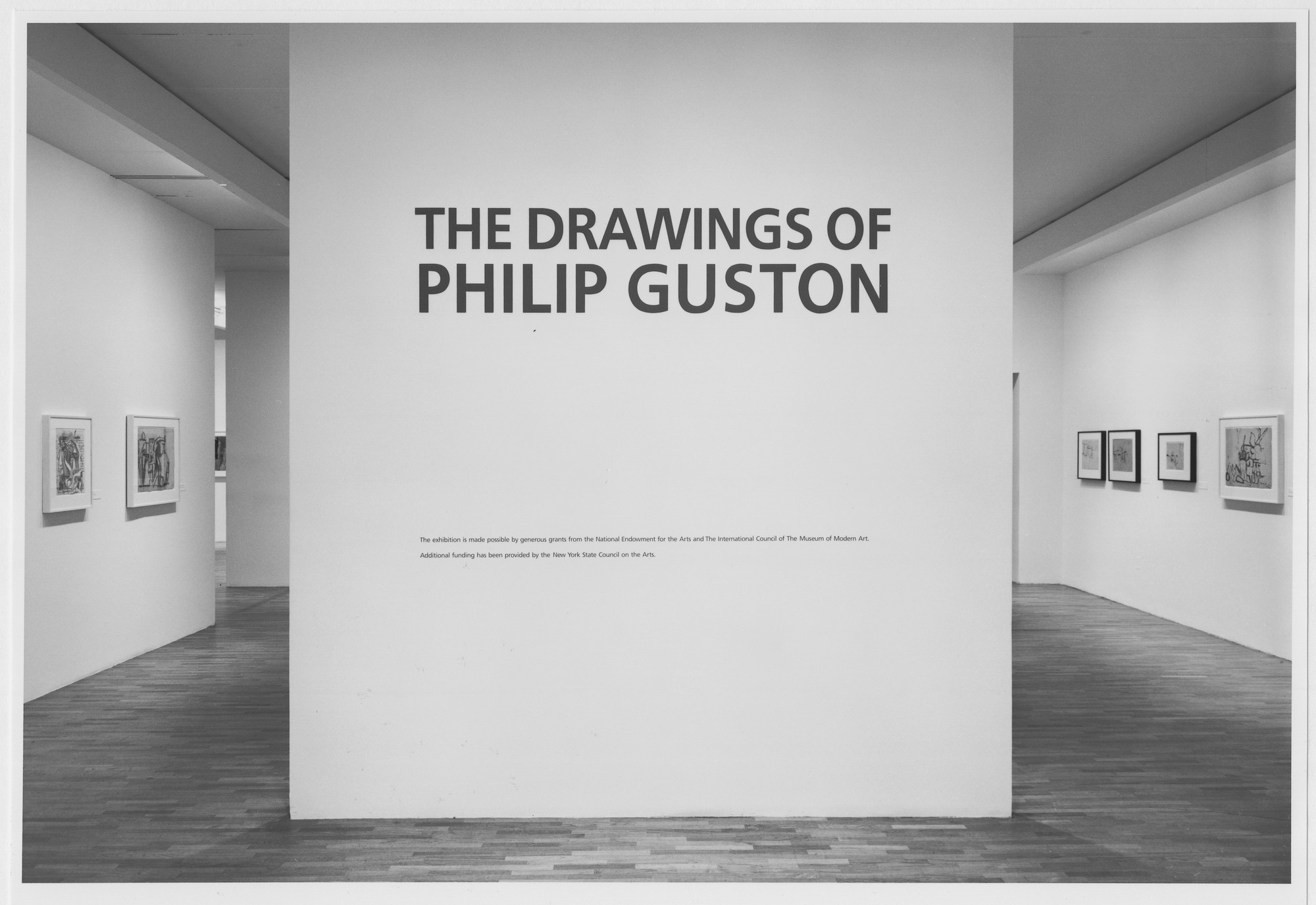 "Installation view of the exhibition, ""The Drawings of Philip Guston"" September 7, 1988–November 1, 1988. Photographic Archive. The Museum of Modern Art Archives, New York. IN1494.1. Photograph by Mali Olatunji."