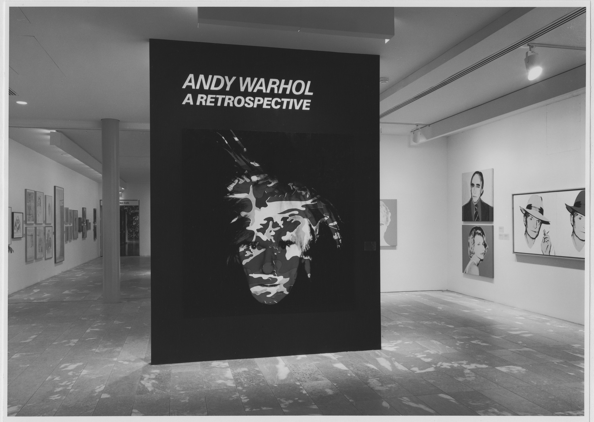 "Installation view of the exhibition, ""Andy Warhol: A Retrospective"" February 6, 1989–May 2, 1989. Photographic Archive. The Museum of Modern Art Archives, New York. IN1510.1. Photograph by Mali Olatunji."