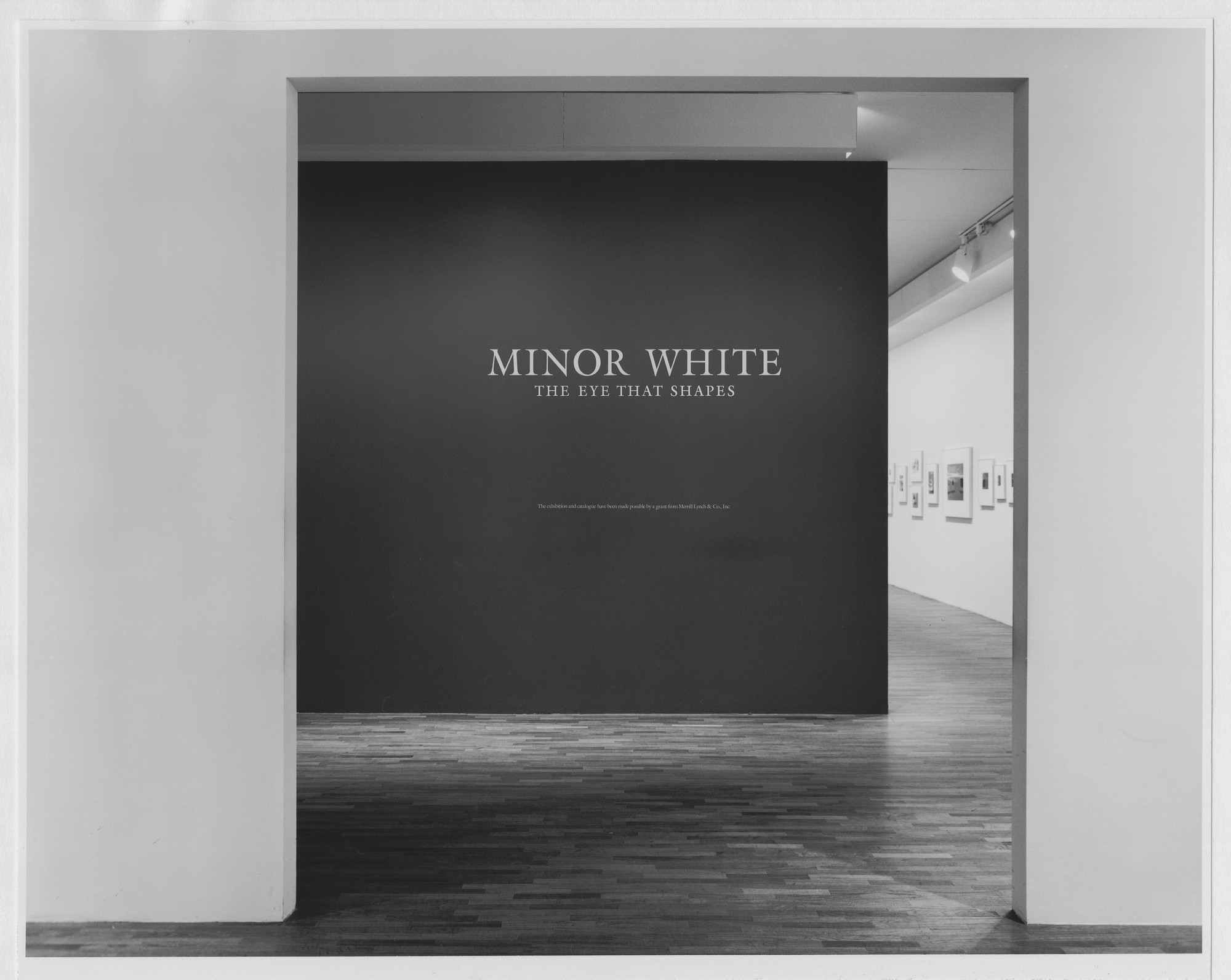 "Installation view of the exhibition, ""Minor White: The Eye That Shapes"" April 26, 1989–June 18, 1989. Photographic Archive. The Museum of Modern Art Archives, New York. IN1517.1. Photograph by Katherine Keller."