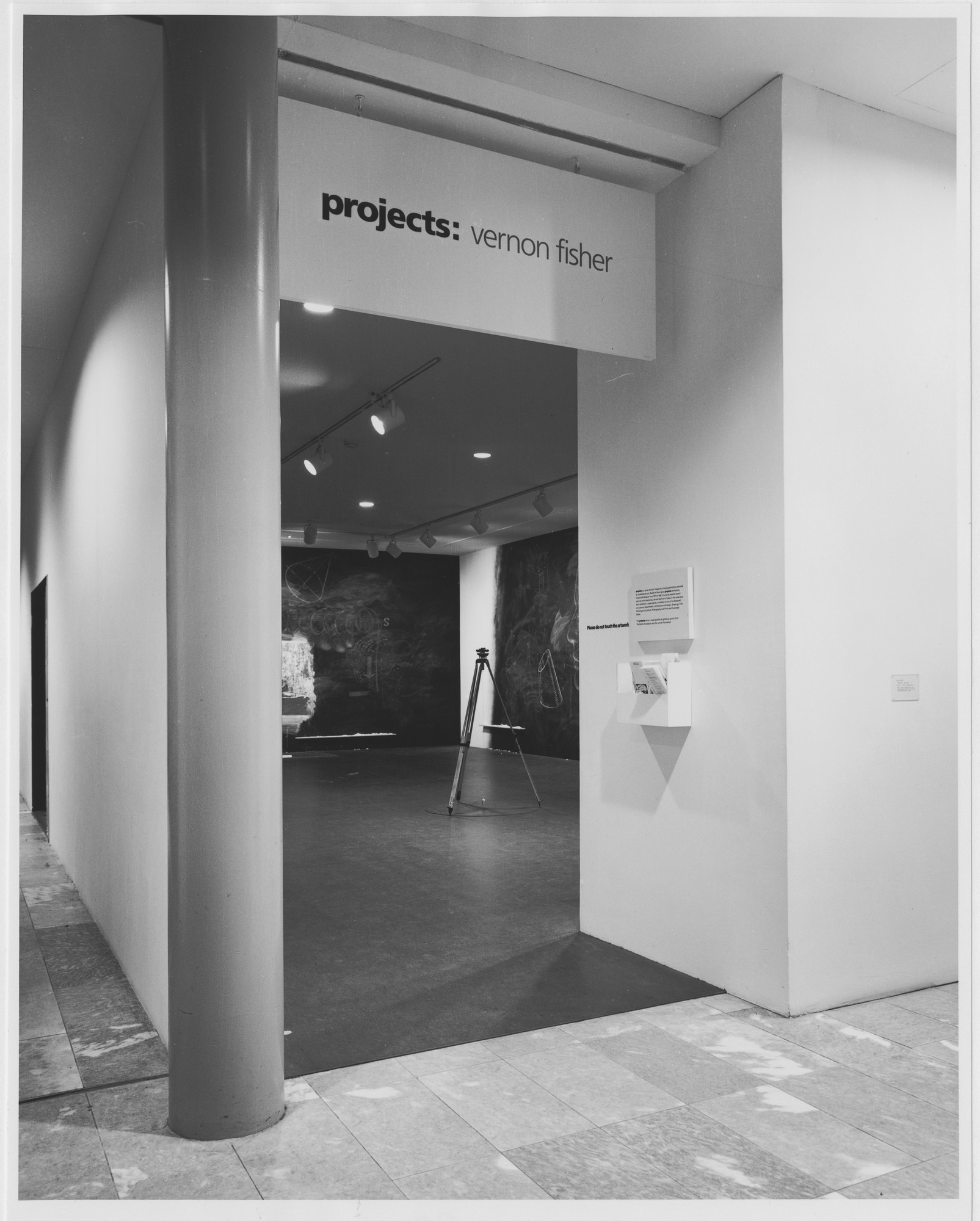 "Installation view of the exhibition, ""Projects 20: Vernon Fisher"" January 20, 1990–March 5, 1990. Photographic Archive. The Museum of Modern Art Archives, New York. IN1540.1. Photograph by Katherine Keller."