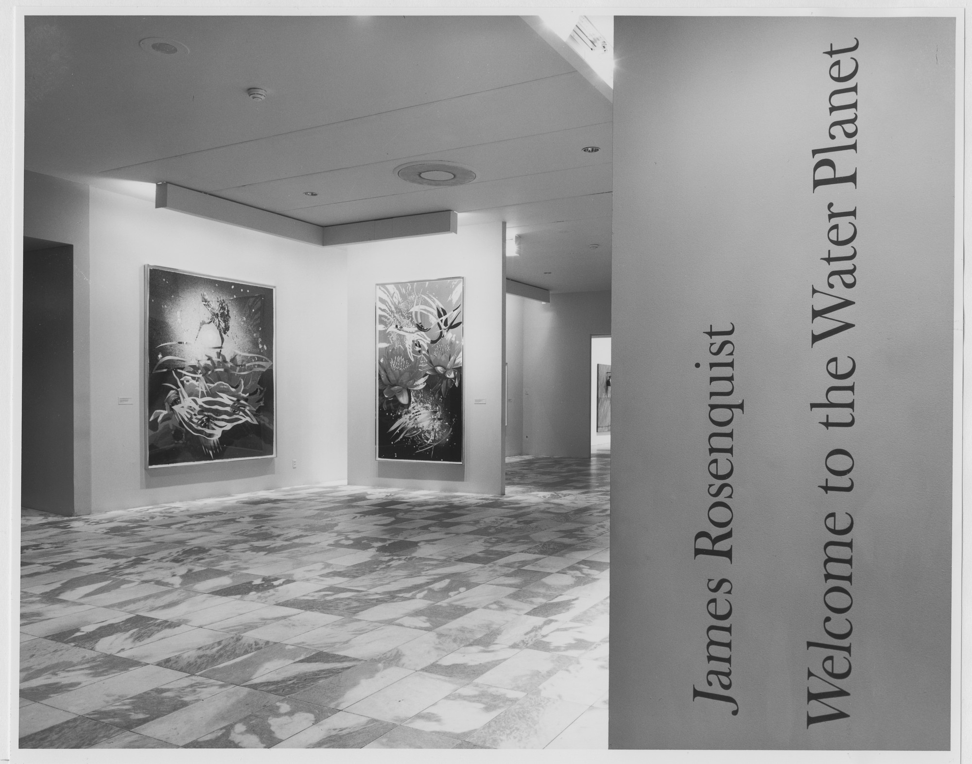 "Installation view of the exhibition, ""James Rosenquist: Welcome to the Water Planet"" February 8, 1990–May 1, 1990. Photographic Archive. The Museum of Modern Art Archives, New York. IN1541.1. Photograph by Katherine Keller."