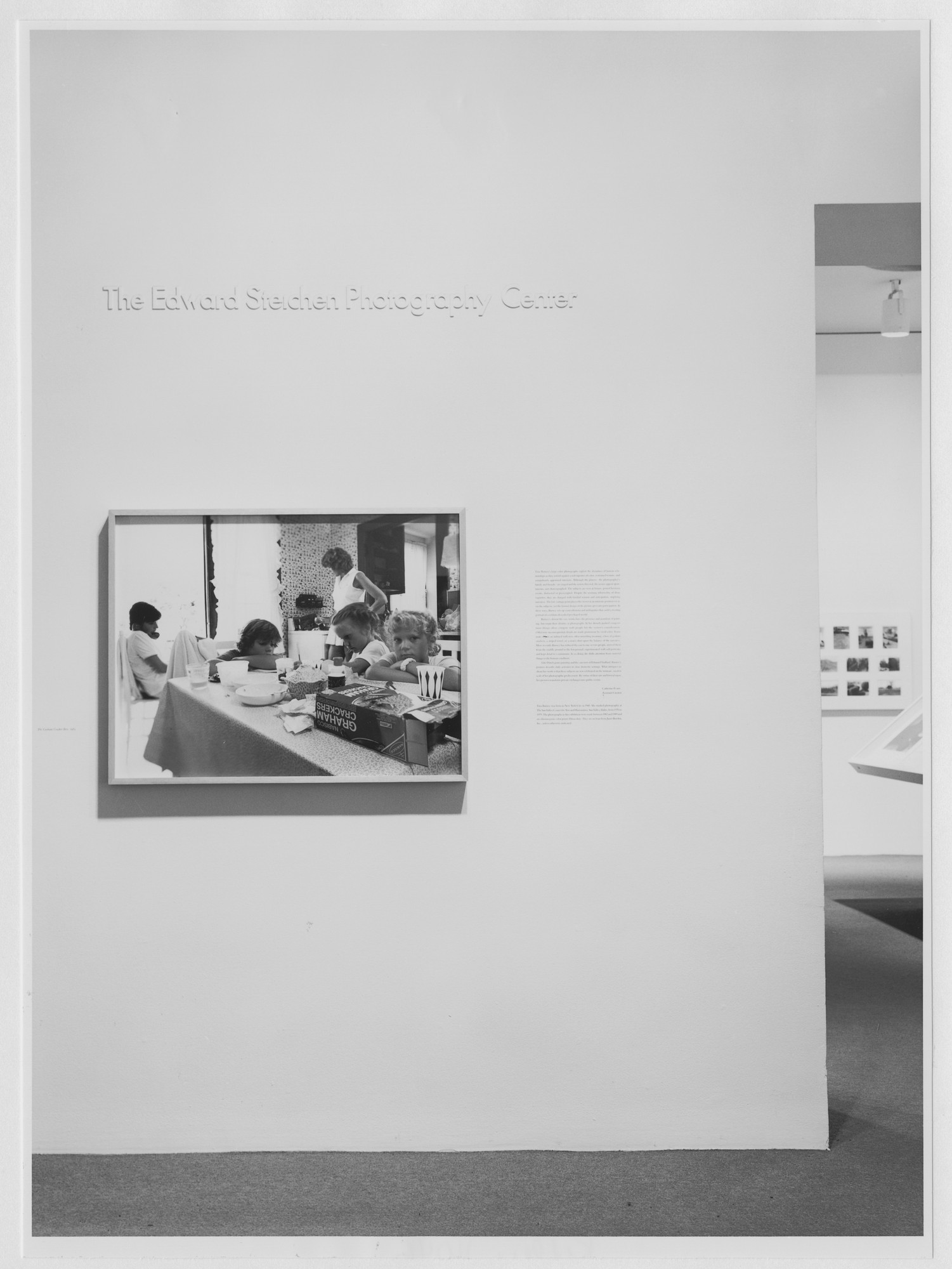 "Installation view of the exhibition, ""Tina Barney"" January 18, 1990–April 10, 1990. Photographic Archive. The Museum of Modern Art Archives, New York. IN1539.1. Photograph by Katherine Keller."