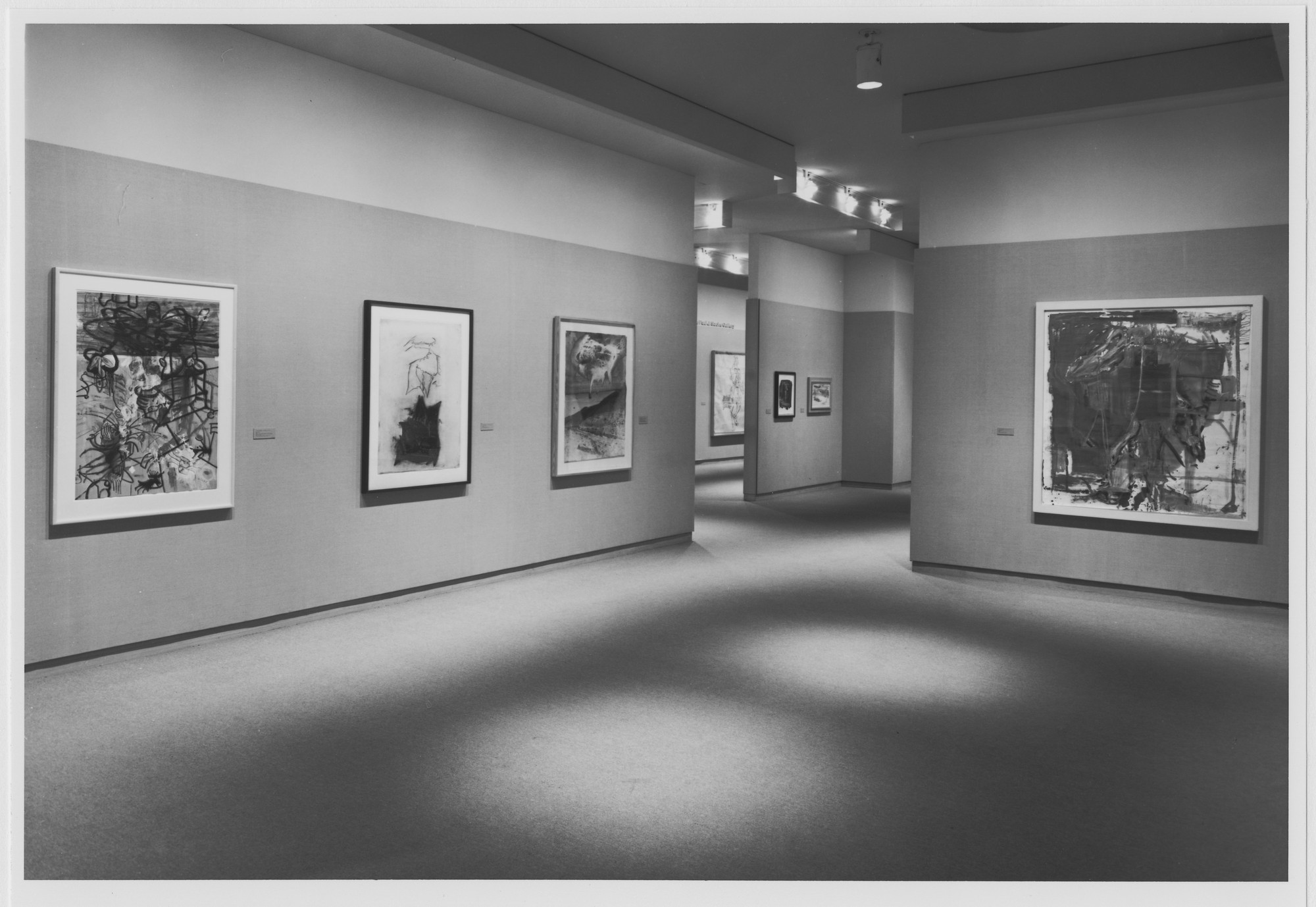 "Installation view of the exhibition, ""Drawings from the Eighties from Collection II "" April 12, 1990–July 10, 1990. Photographic Archive. The Museum of Modern Art Archives, New York. IN1546a.1. Photograph by Mali Olatunji."