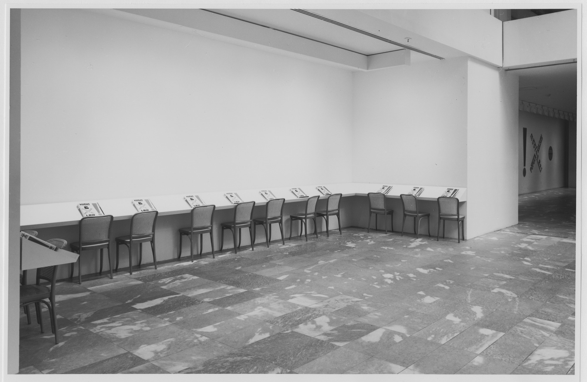"Installation view of the exhibition, ""High and Low: Modern Art and Popular Culture"" October 7, 1990–January 15, 1991. Photographic Archive. The Museum of Modern Art Archives, New York. IN1559.1. Photograph by Mali Olatunji."