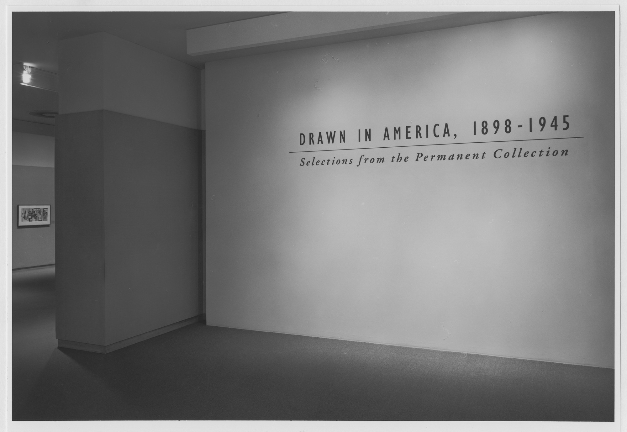 "Installation view of the exhibition, ""Drawn in America, 1898-1945"" November 1, 1990–March 1991. Photographic Archive. The Museum of Modern Art Archives, New York. IN1563.1. Photograph by Mali Olatunji."