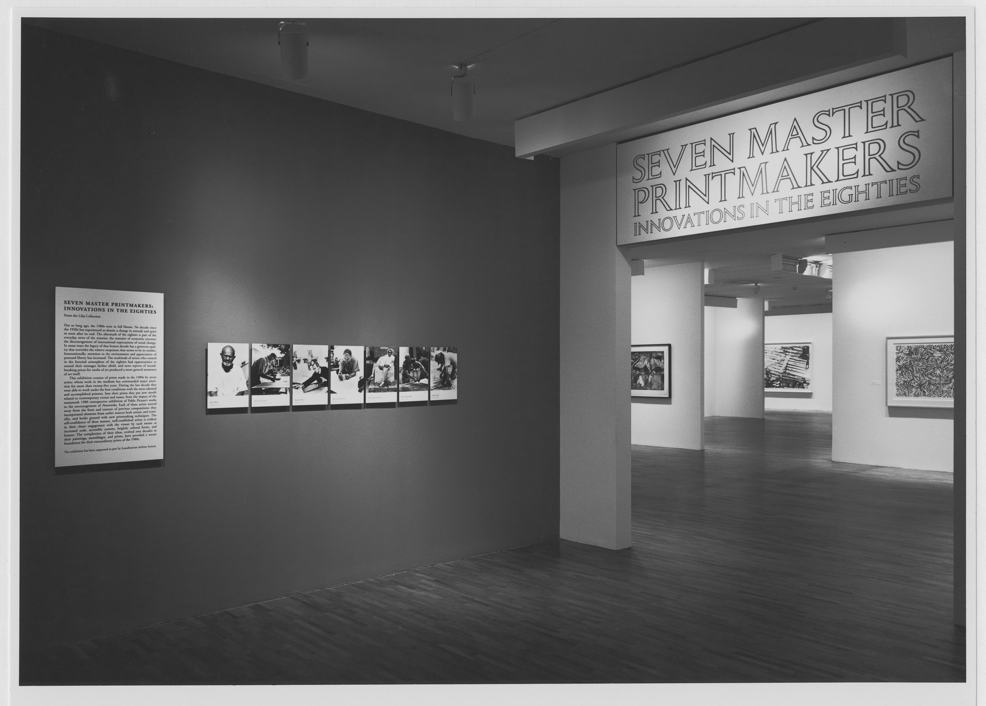 "Installation view of the exhibition, ""Seven Master Printmakers: Innovations in the 1980s"" May 16, 1991–August 13, 1991. Photographic Archive. The Museum of Modern Art Archives, New York. IN1582.1. Photograph by Mali Olatunji."