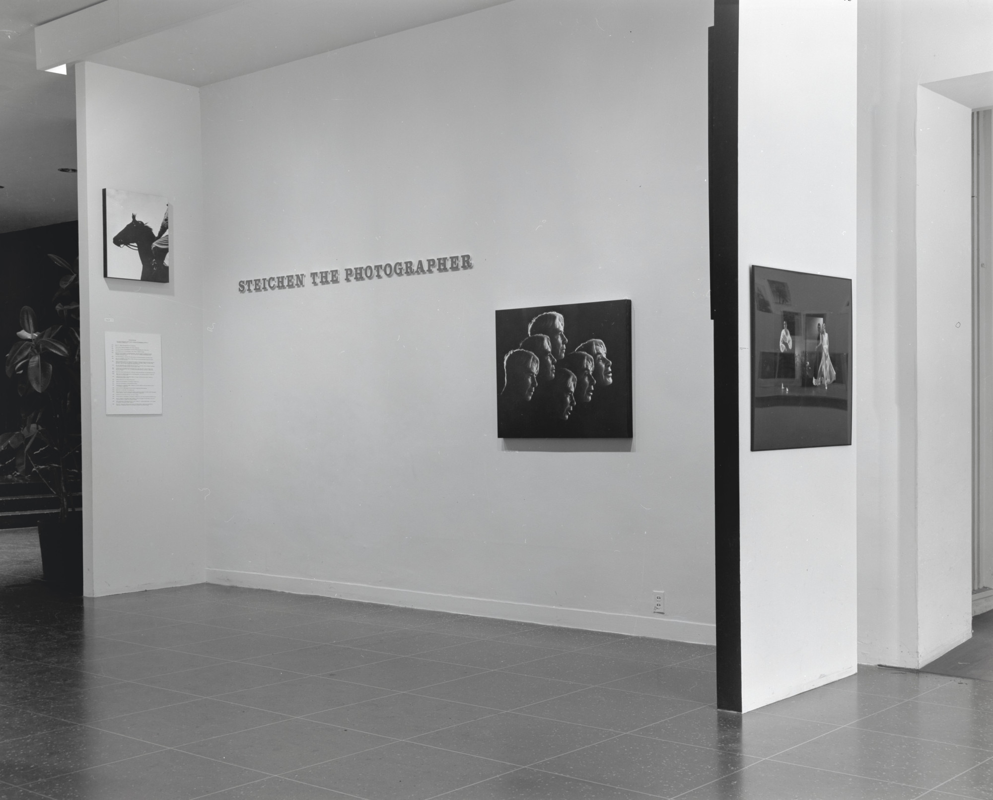 "Installation view of the exhibition, ""Steichen the Photographer"" March 28, 1961–May 30, 1961. Photographic Archive. The Museum of Modern Art Archives, New York. IN682.1. Photograph by Rolf Petersen."