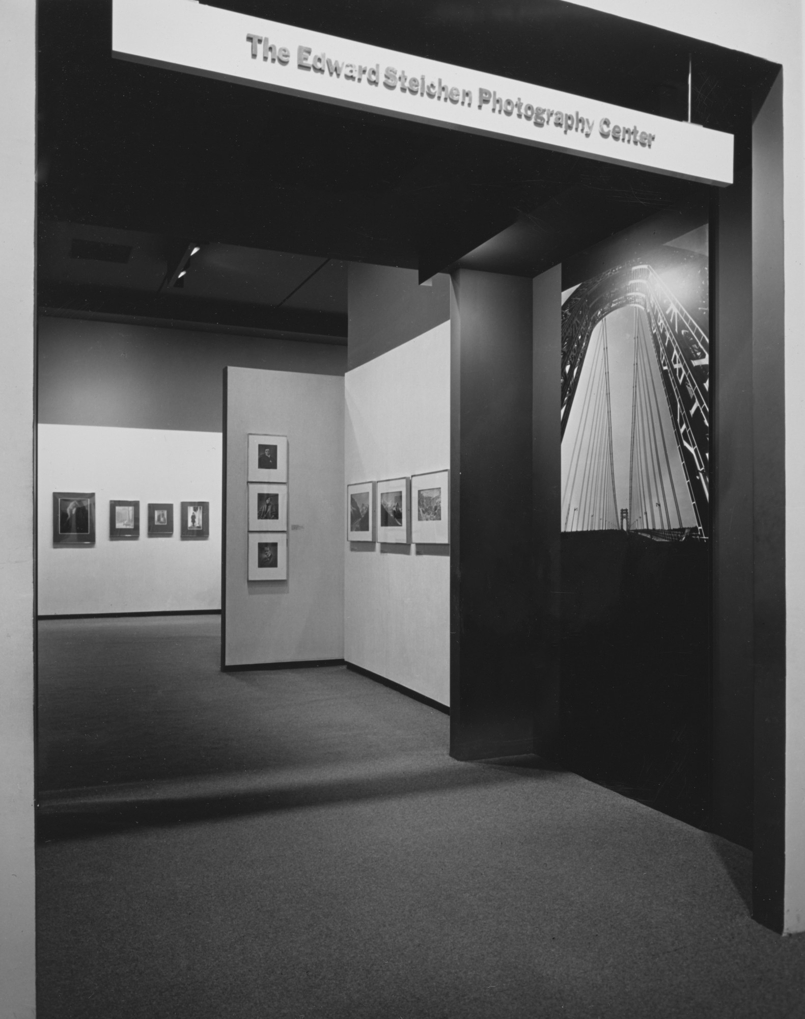 "Installation view of the exhibition, ""Edward Steichen Photography Center"" May 27, 1964 [unknown closing date]. Photographic Archive. The Museum of Modern Art Archives, New York. IN736.1. Photograph by Rolf Petersen."